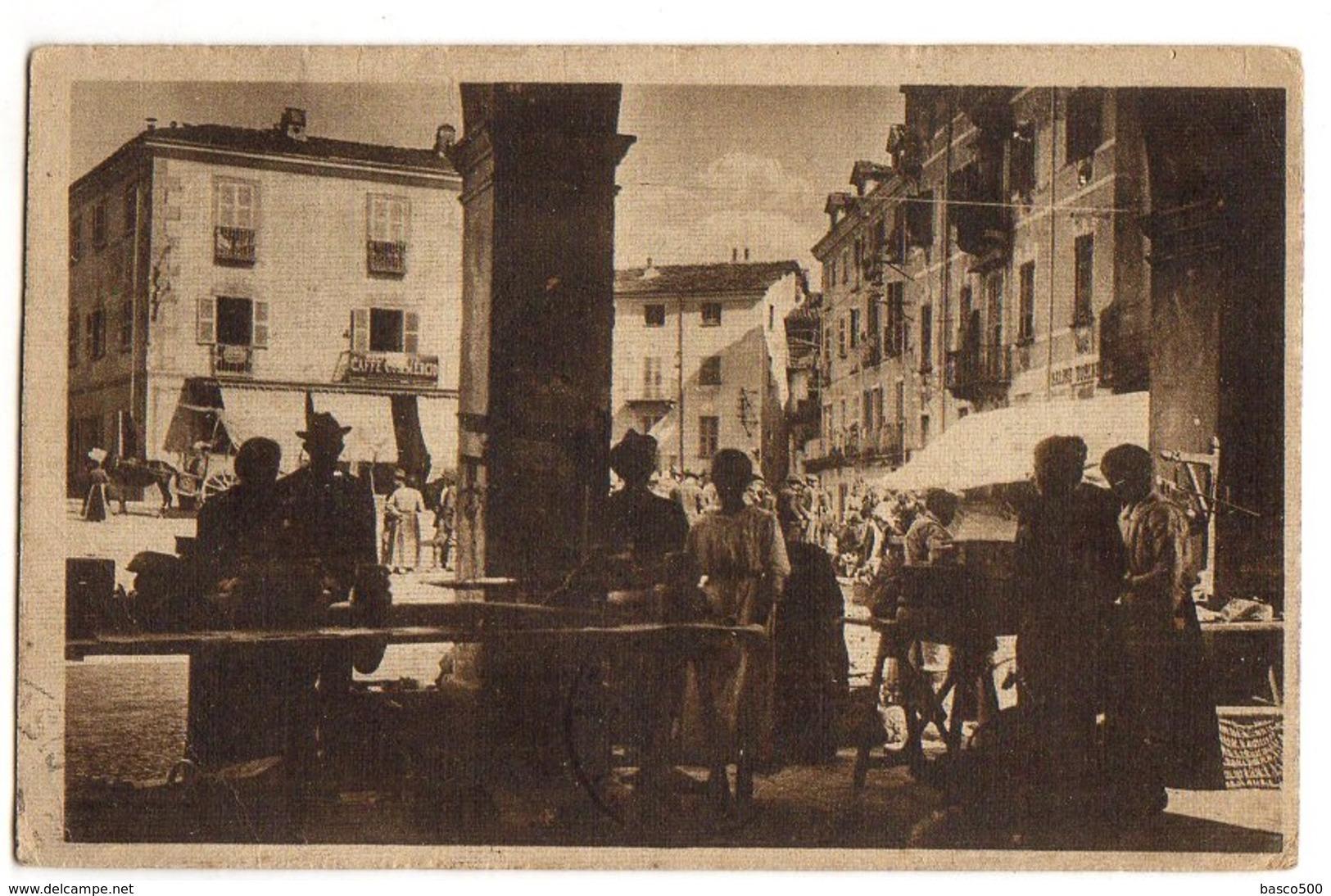 1922 CUORGNE - Carte Animée MERCATO Su PIAZZA PINELLI - Otras Ciudades