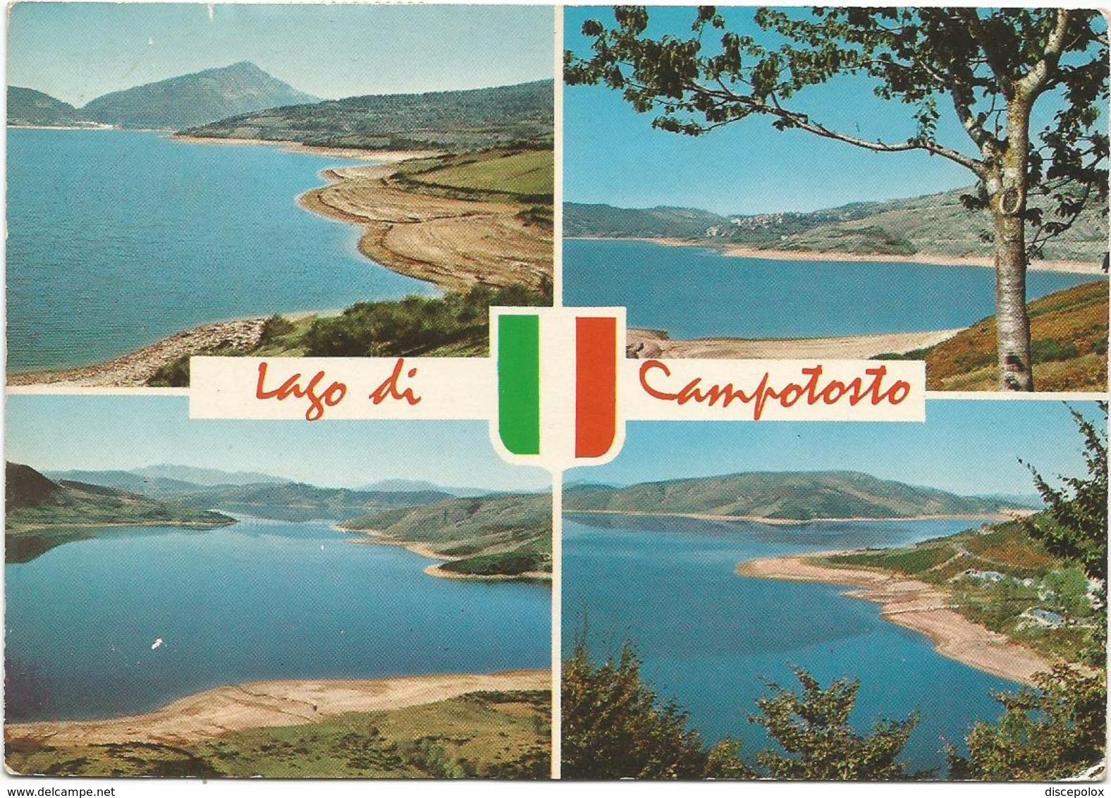 V3574 Lago Di Campotosto (L'Aquila) - Panorama Vedute Multipla / Viaggiata 1979 - Altre Città