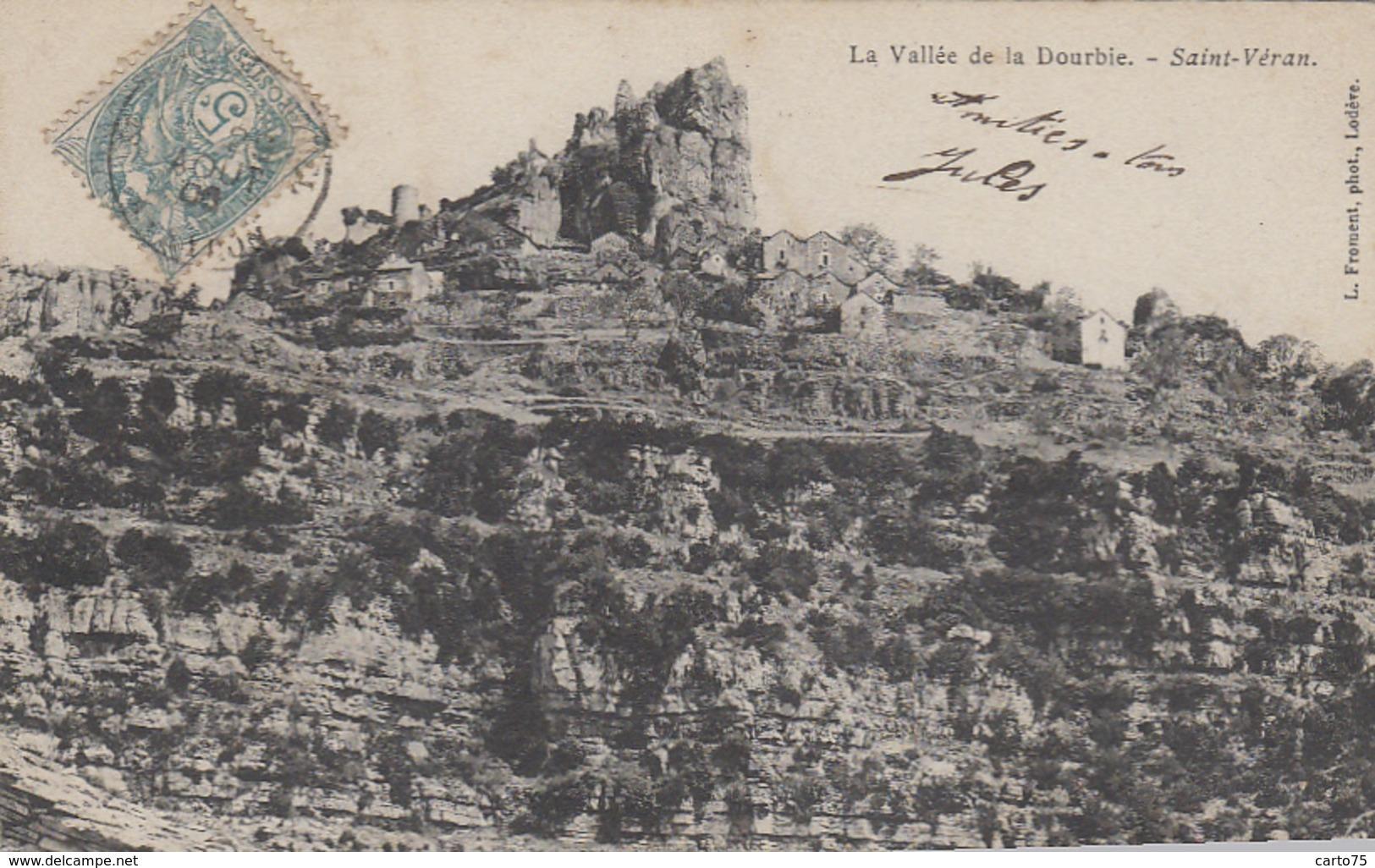 Saint-Véran 12 - Vallée De La Dourbie - Oblitérations 1900 - Non Classificati