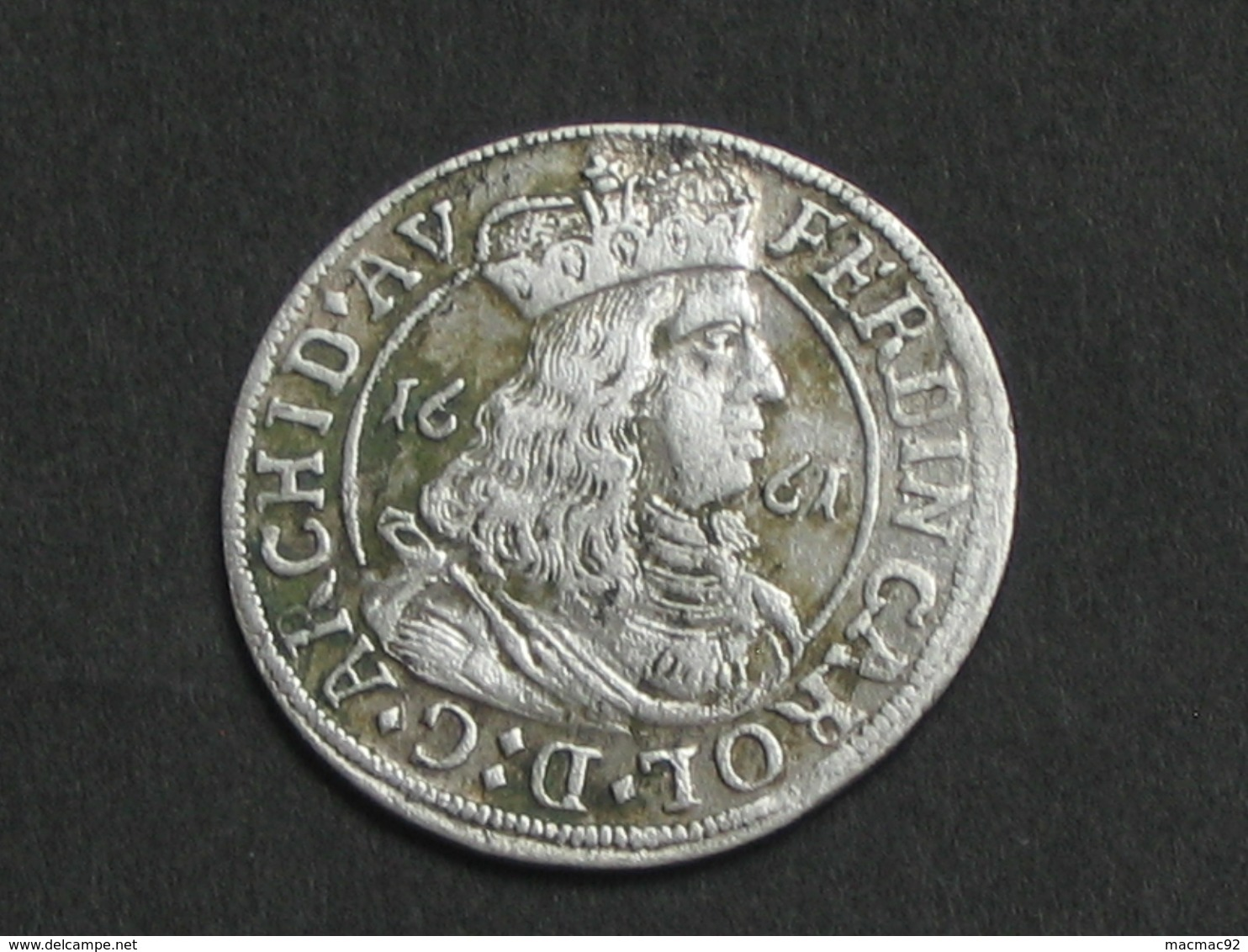 3 Kreuzer 1661 - Ferdinand Karl Regency **** EN ACHAT IMMEDIAT **** - Autriche