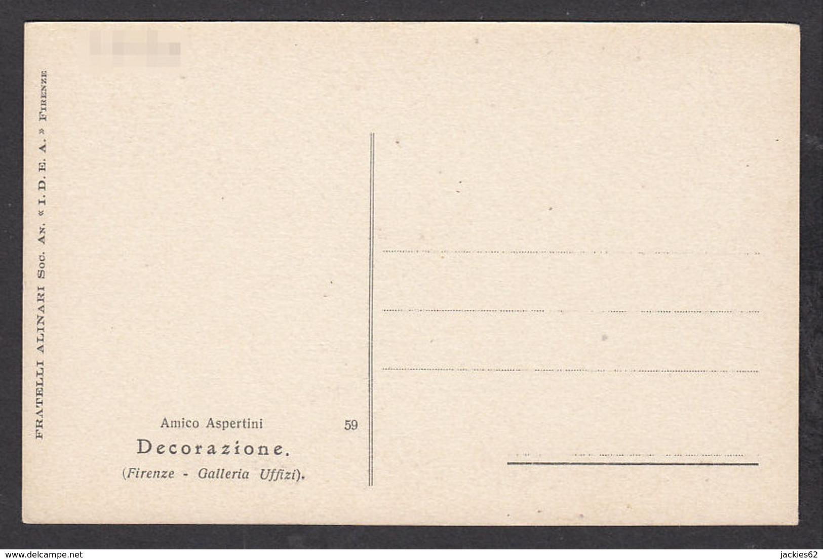 PA110/ Amico ASPERTINI, *Decorazione*, Florence, Galerie Des Offices - Peintures & Tableaux