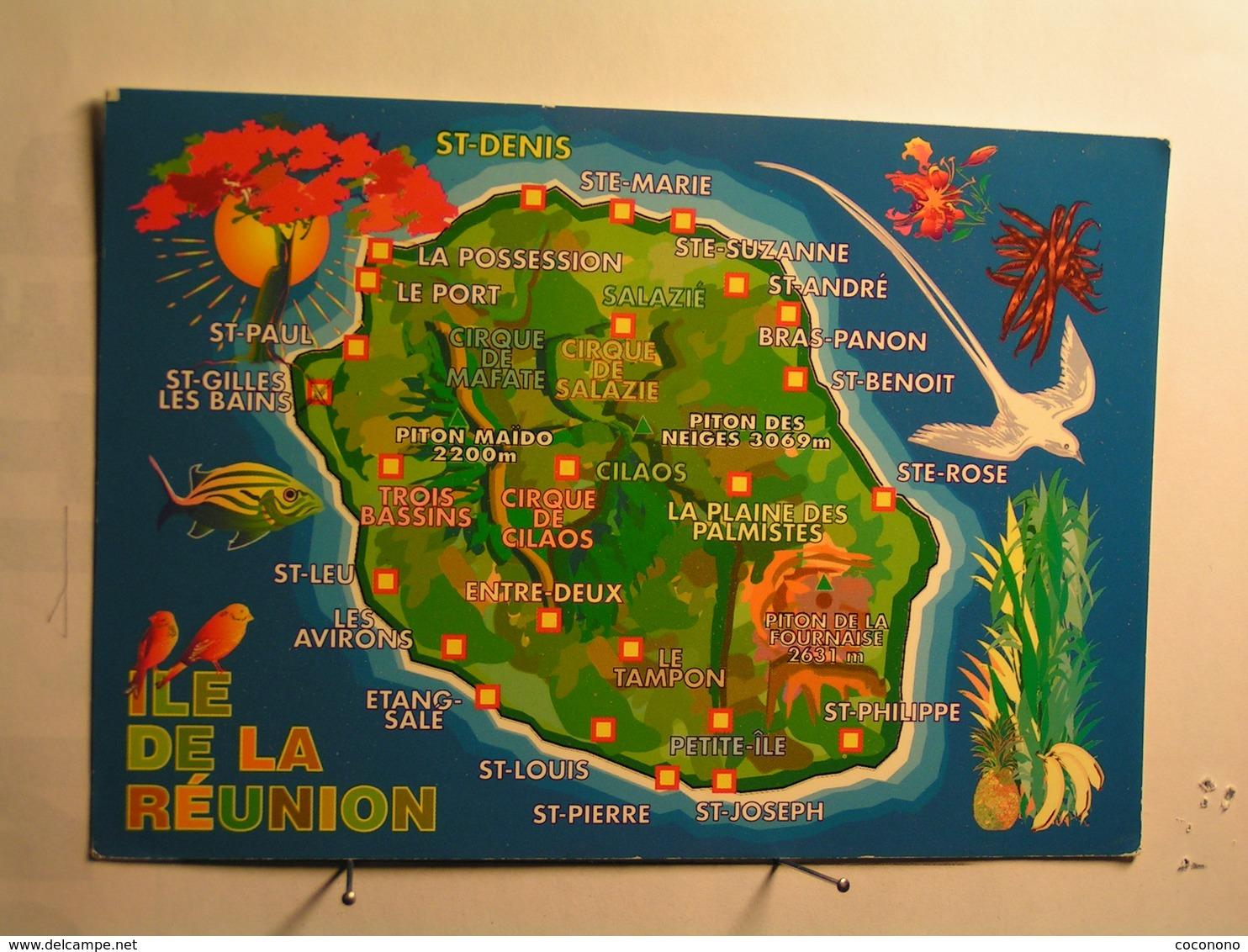 Ile De La Réunion - Carte - La Réunion