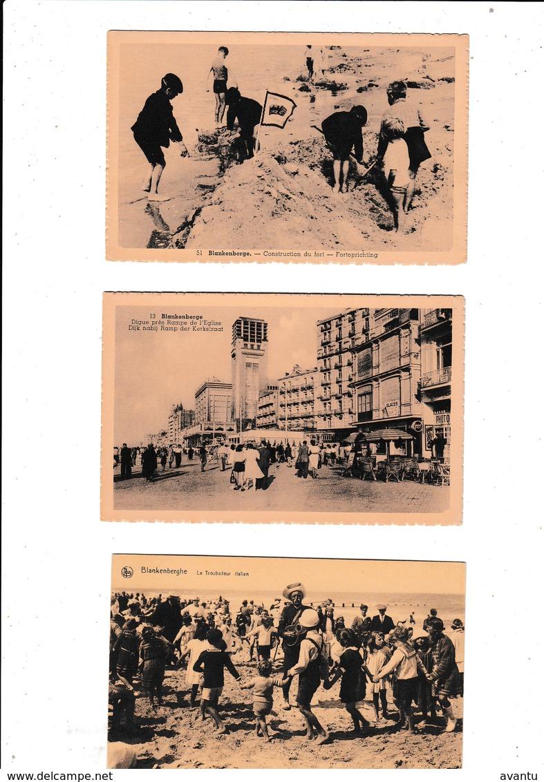 BLANKENBERGE / LOT 60 KAARTEN  /  LOT DE 60 CARTES / LIQUIDATION DU STOCK / EINDEJAARSVERKOOP VAN STOCK - Blankenberge