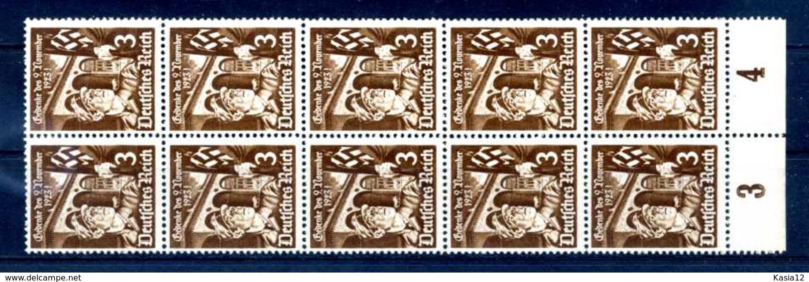 Z53075)DR 598 Y, 10er-Block** - Deutschland
