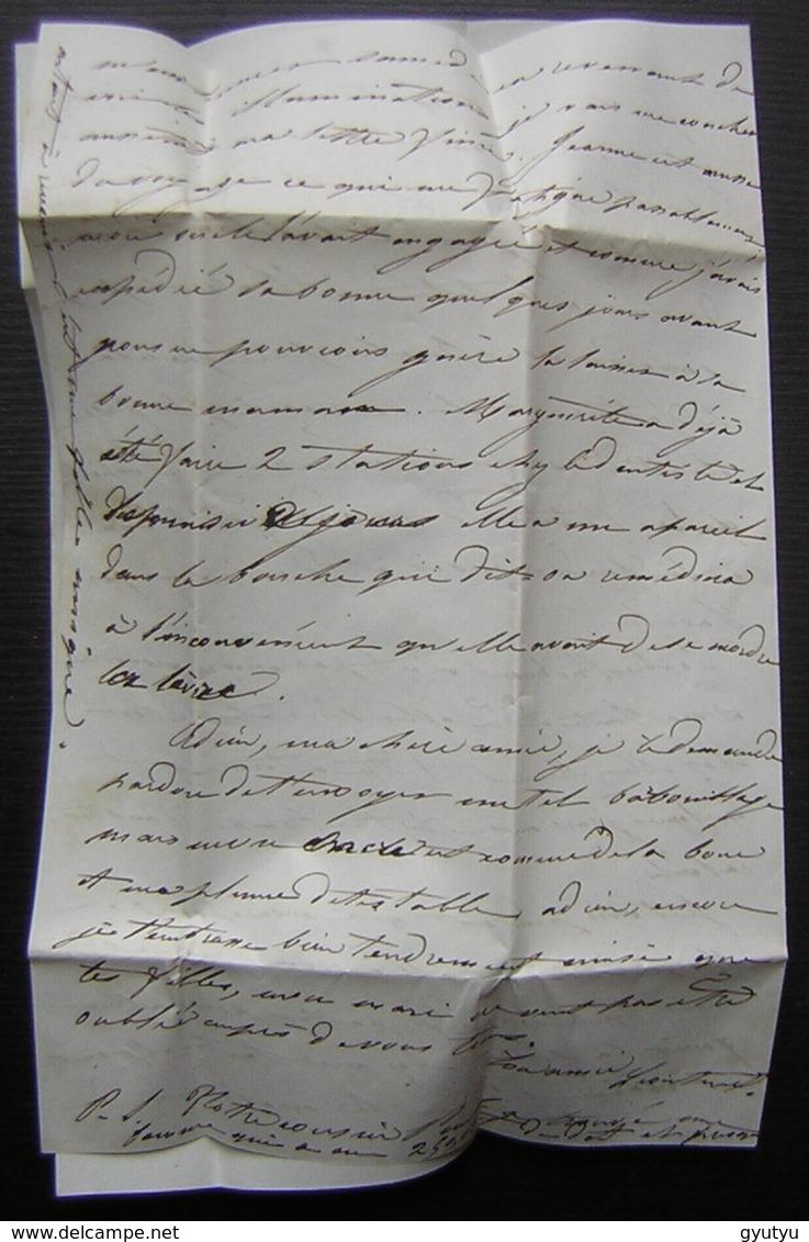1850 Lettre De Paris Cachet ES2 Taxée (sans Timbre) Pour Avallon (Yonne) - 1849-1876: Période Classique