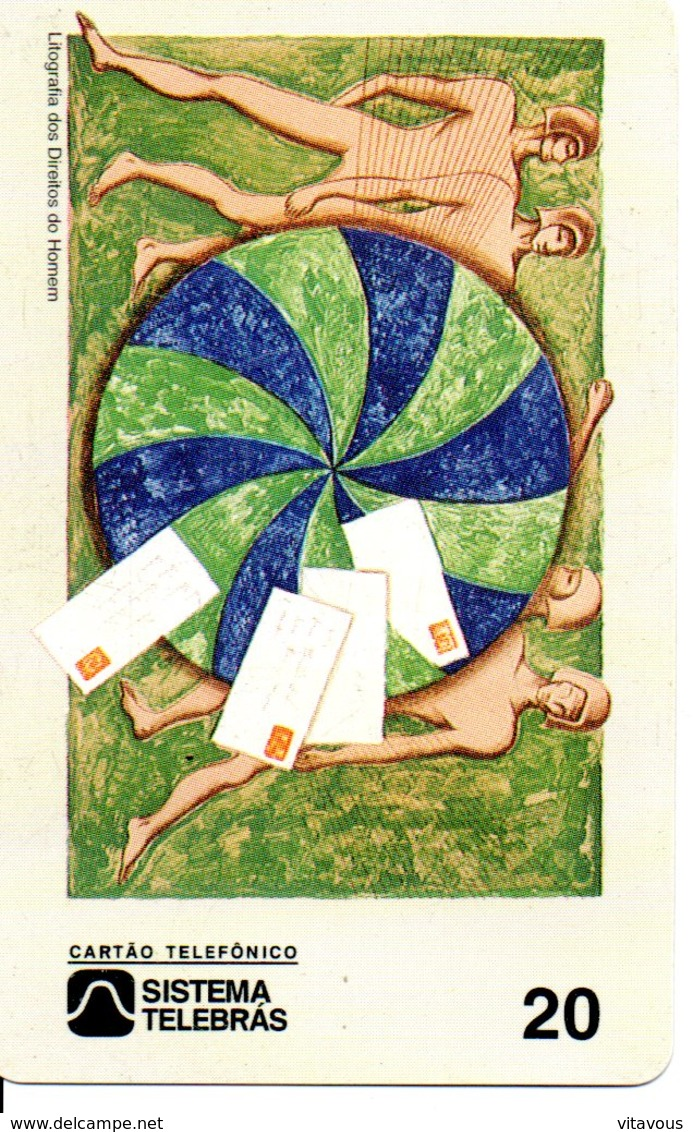 Télécarte Brésil Timbre Stamp   Phonecard  (G03) - Timbres & Monnaies