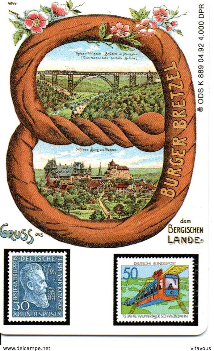 Télécarte Allemagne Timbre Stamp 4 000 EXEMPLAIRES Phonecard Deutsche Germany (G04) - Timbres & Monnaies