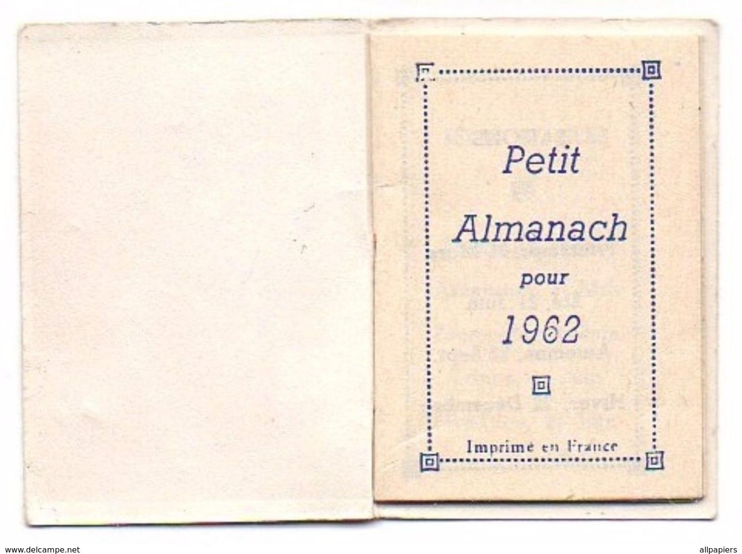 Petit Almanach Pour 1962 - Dimension : 5.5x4 Cm - Calendriers
