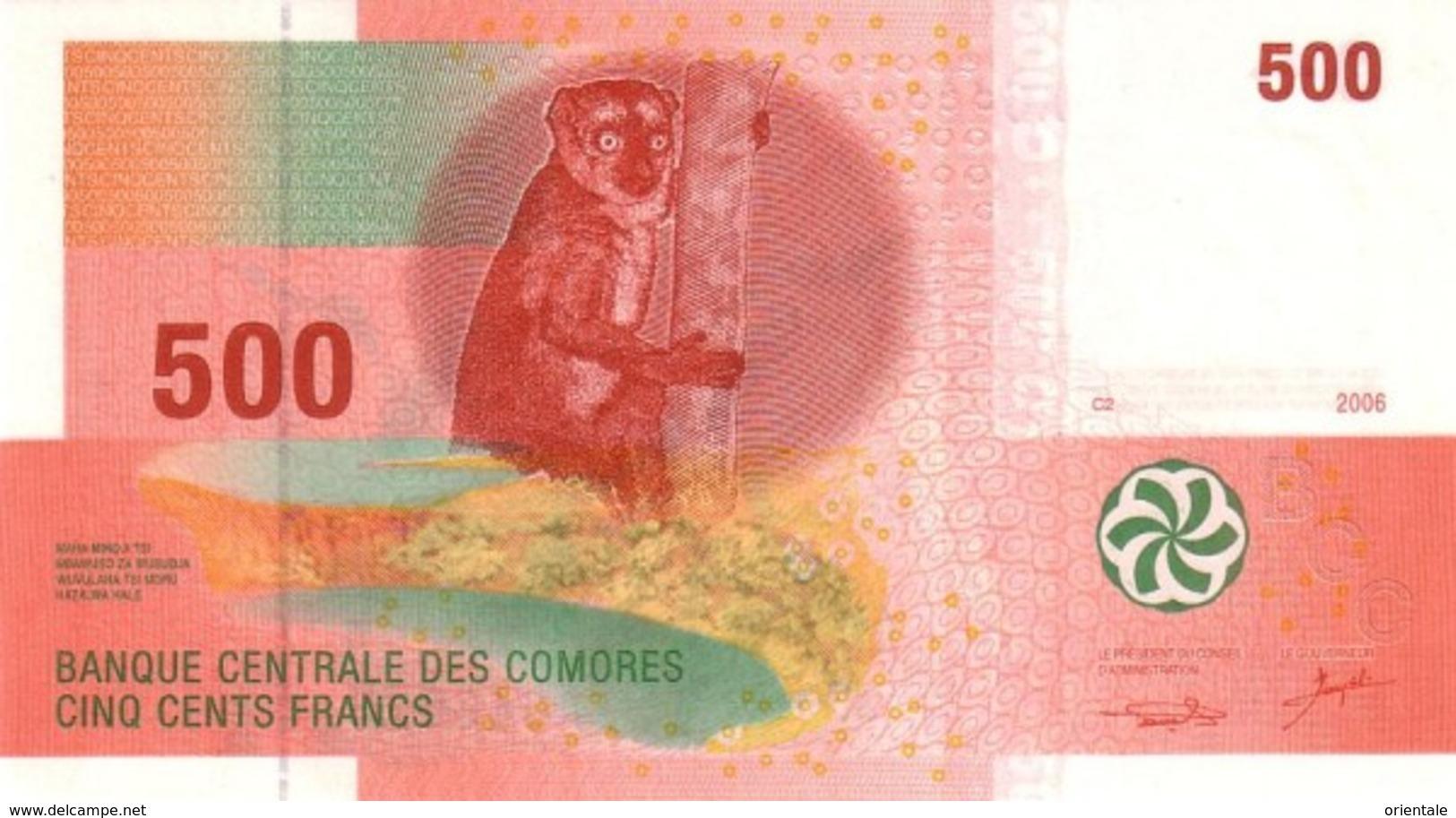 COMOROS P. 15a 500 F 2006 UNC - Comores