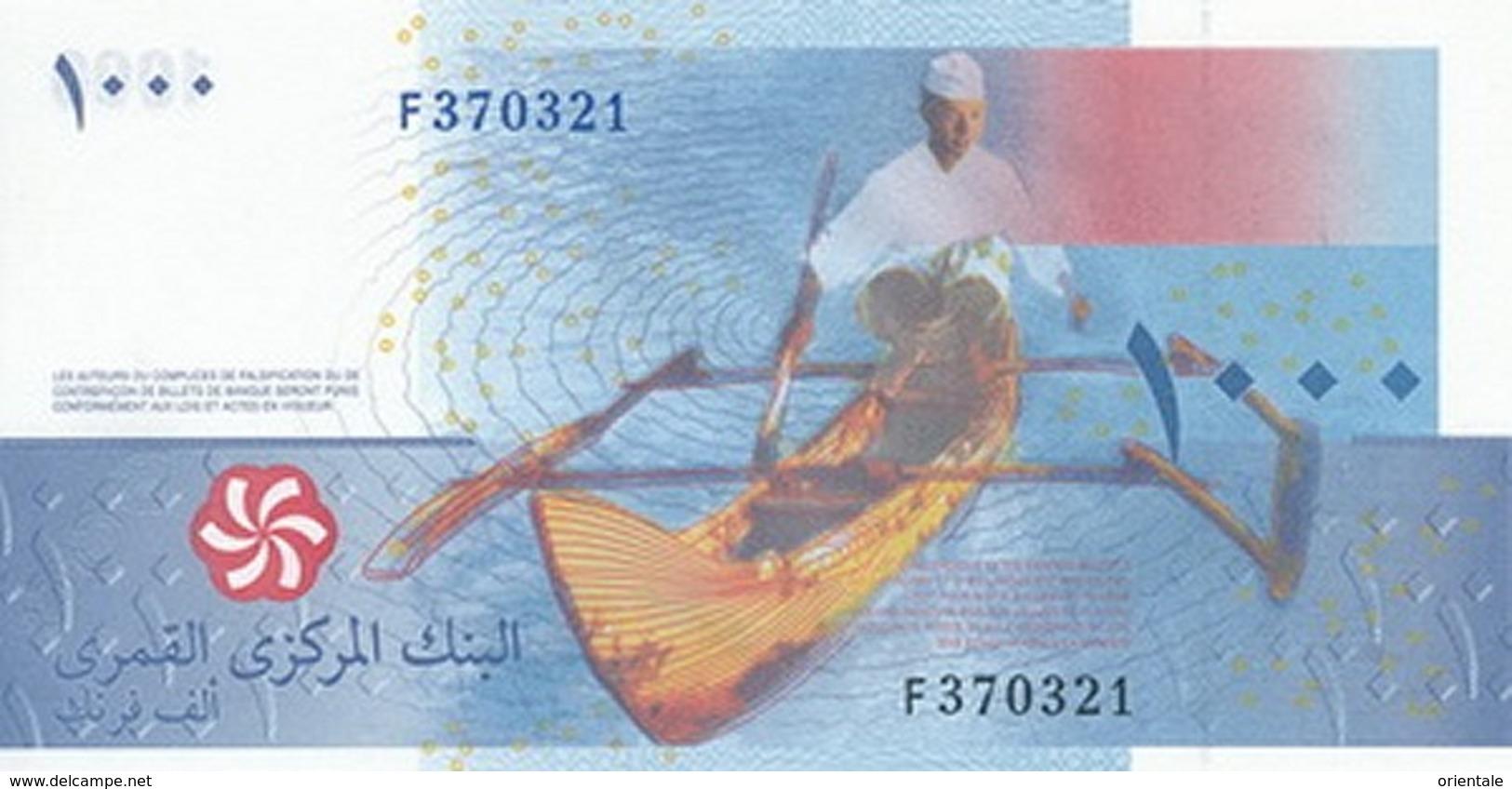 COMOROS P. 16b 1000 F 2012 UNC - Comores