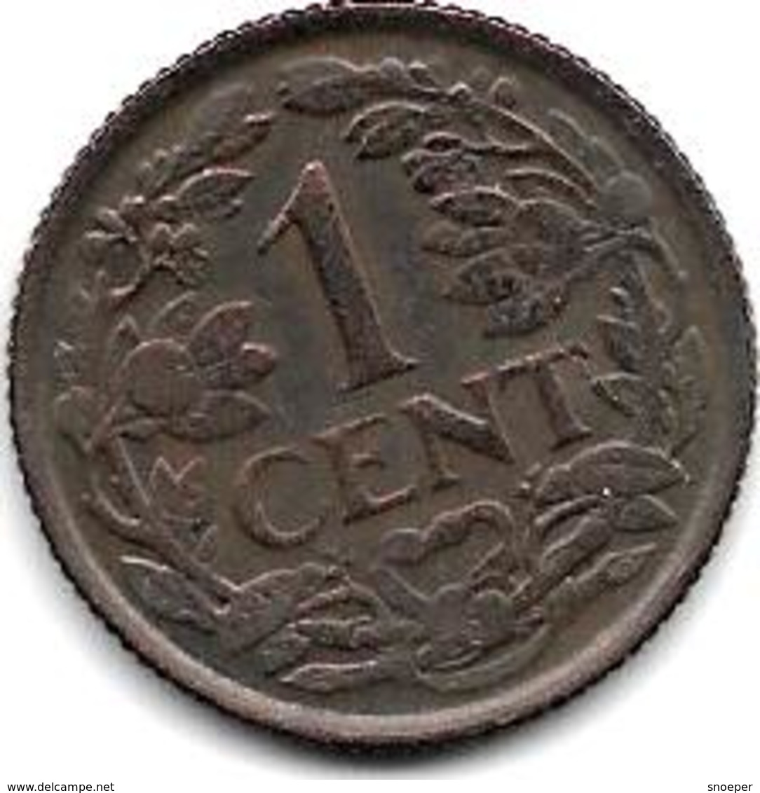 Netherlands 1 Cent 1941 Km 152   Xf - [ 3] 1815-… : Royaume Des Pays-Bas