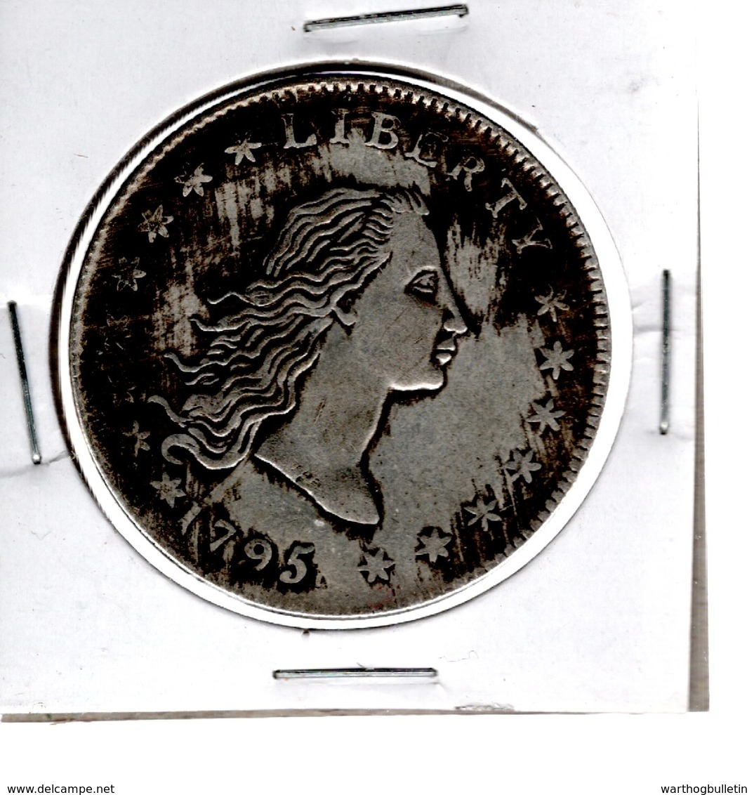 1795 Chinese Made Fake Flowing Hair Dollar Two Leaves Type - NO Silver - For Tourists - EDICIONES FEDERALES