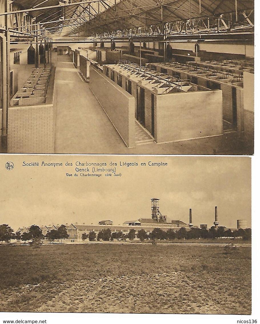 SOCIETE  ANONYME  DES CHARBONNAGES DES LIEGEOIS EN CAMPINE  CITE DE LIEGE  7 CARTES - Mines