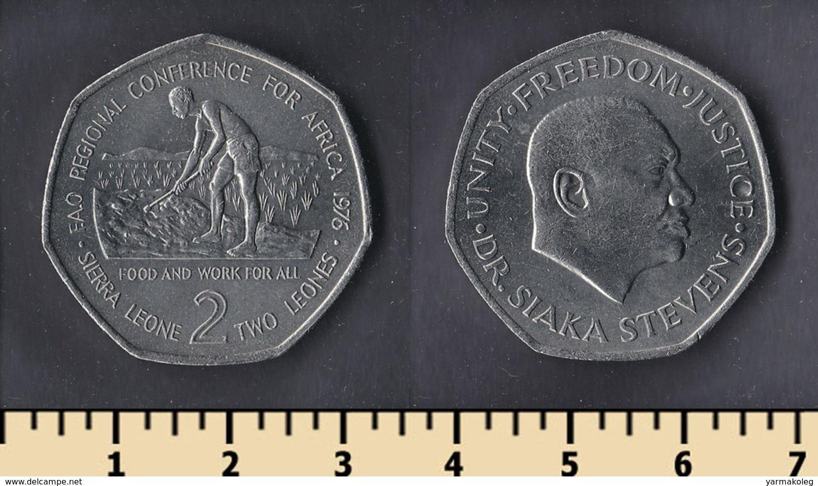 Sierra Leone 2 Leones 1976 - Sierra Leone
