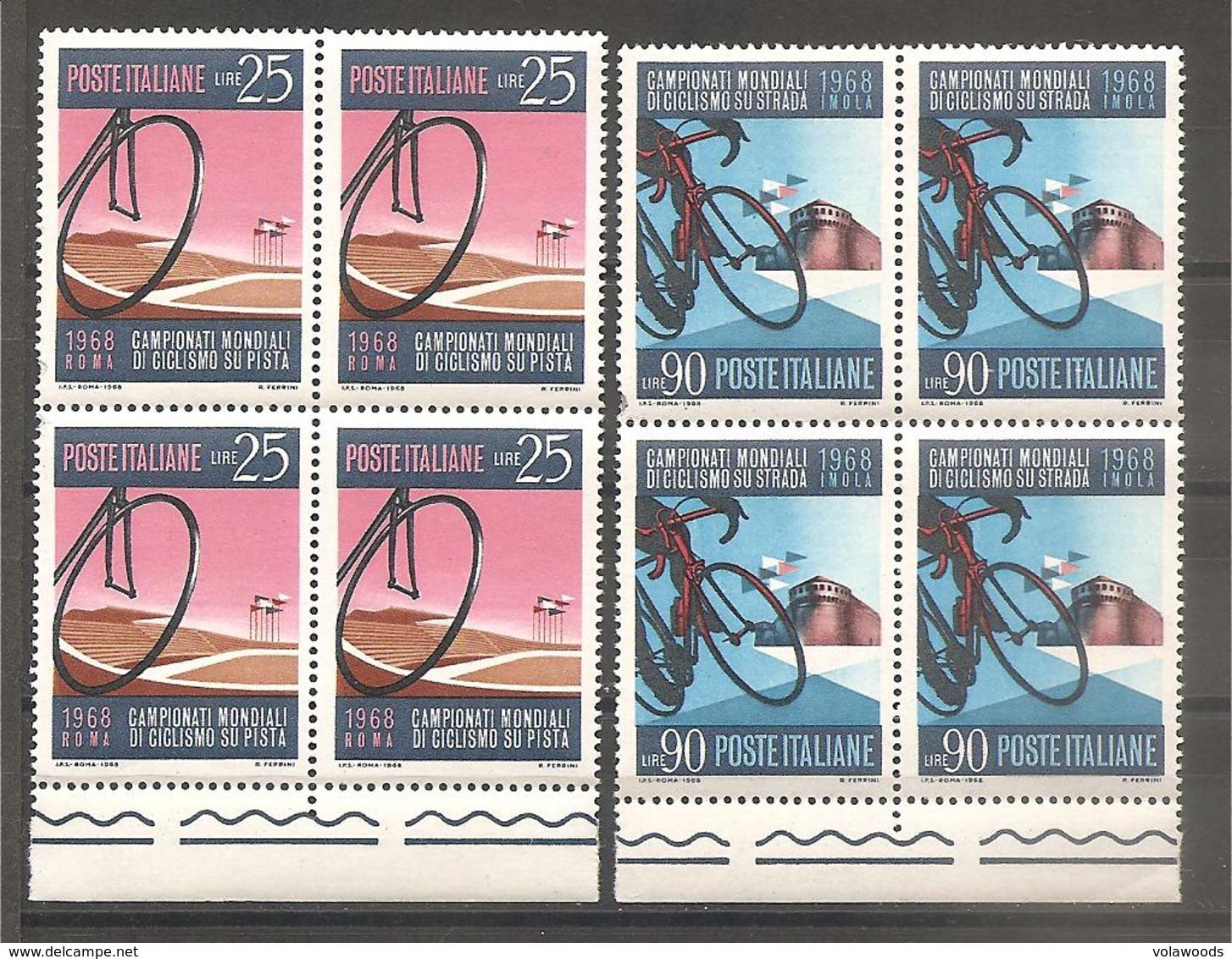 Italia - Serie Completa Nuova In Quartina: Campionati Mondiali Di Ciclismo - 1968 * G - Ciclismo