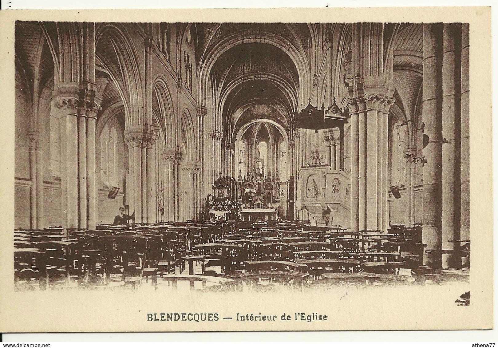 62 - BLENDECQUES / INTERIEUR DE L'EGLISE - Frankrijk