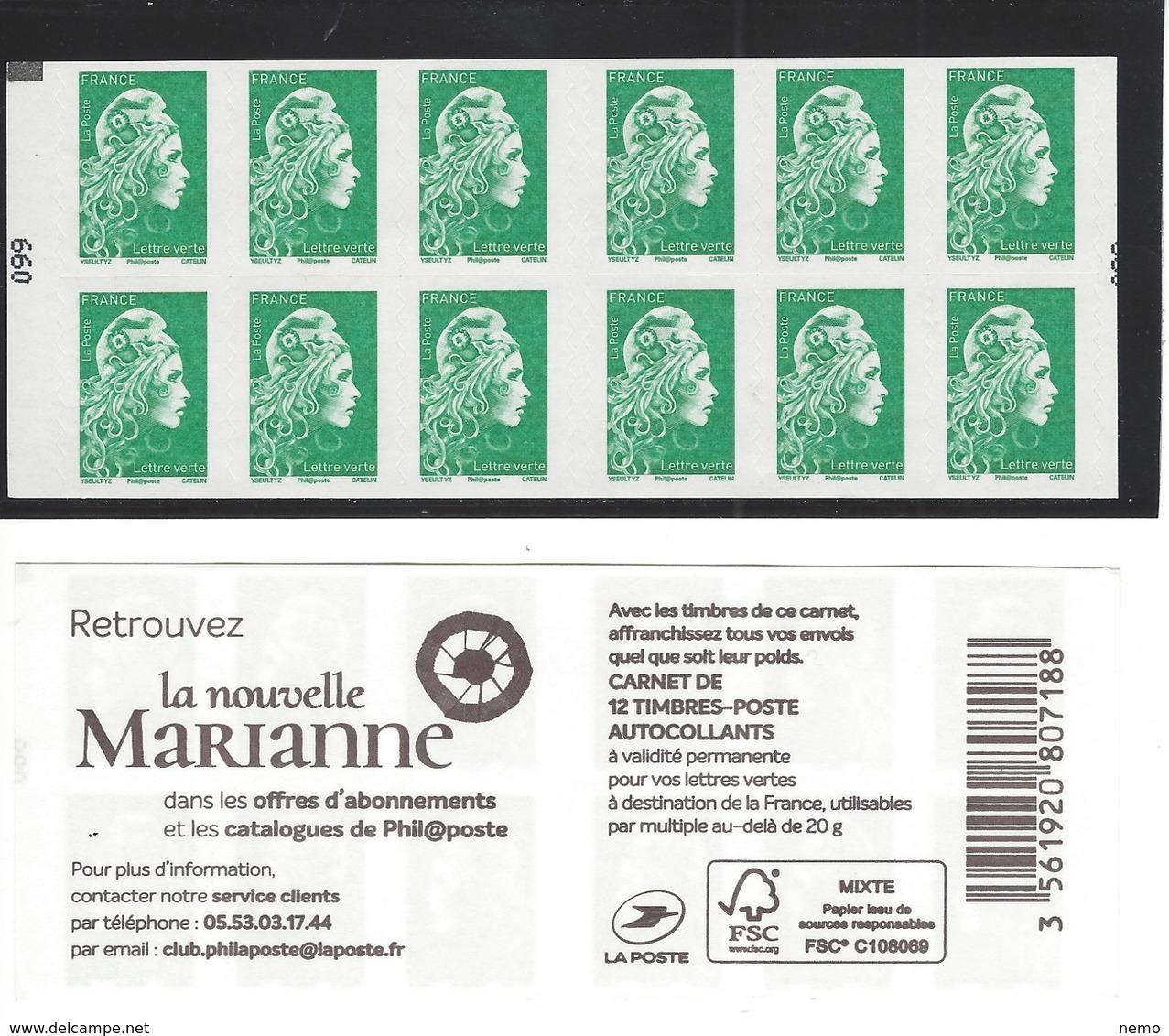 Variété Carré Noir Et Numéro à Gauche Sur Carnet Marianne L'engagée - Usage Courant