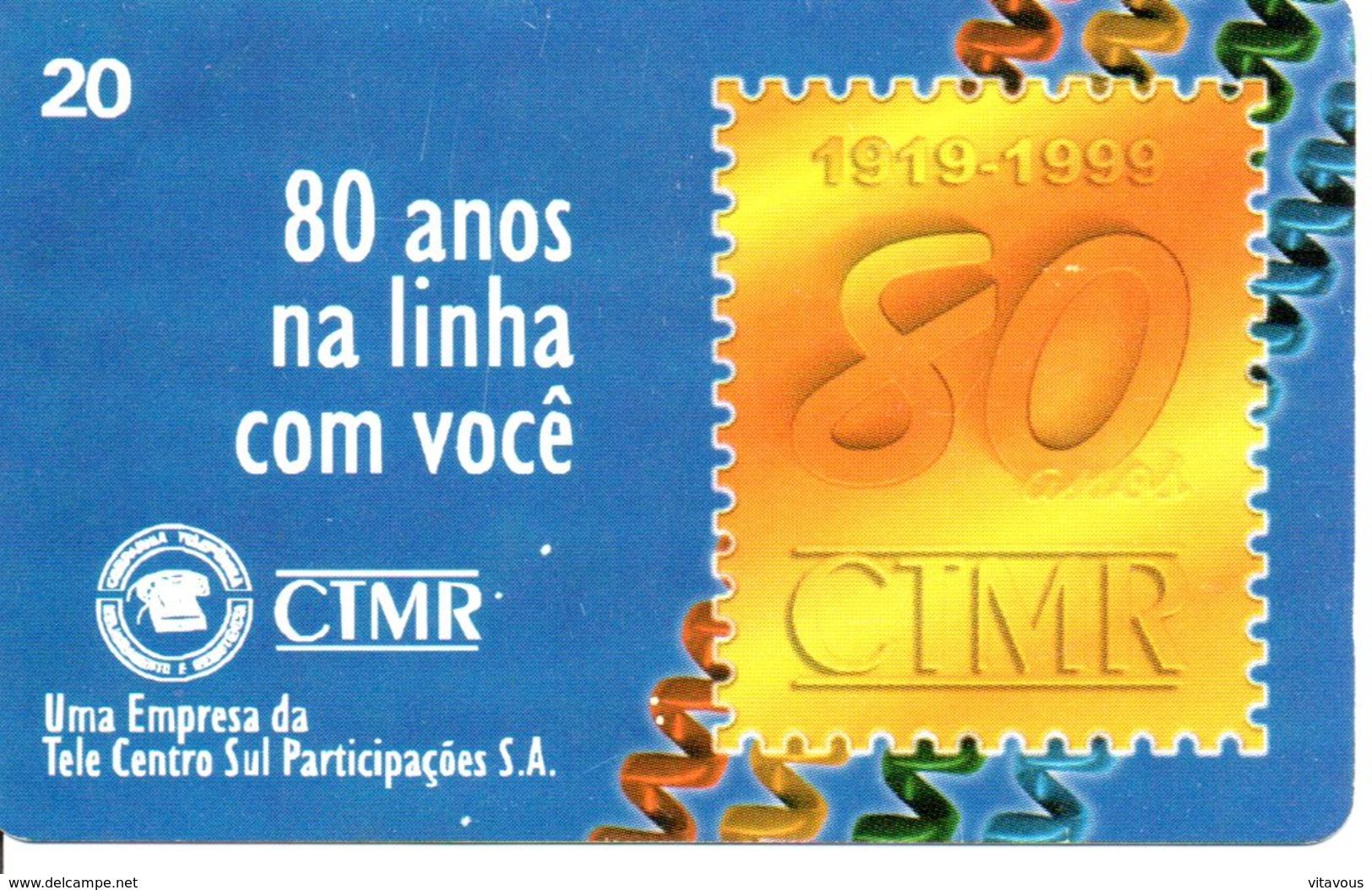 Télécarte Brésil Timbre Stamp   Phonecard  (G12) - Timbres & Monnaies