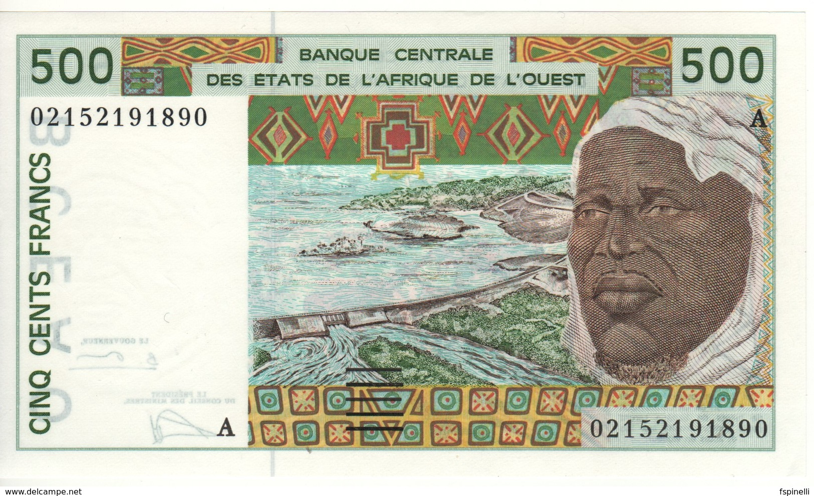 Ivory Coast   500 Francs    P110A.m      2002     Sign.  31 - Côte D'Ivoire