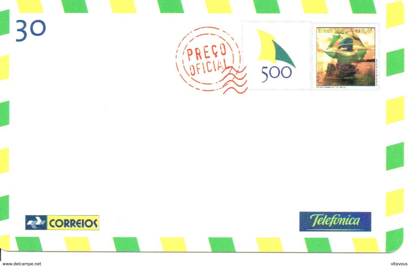 Télécarte Brésil Timbre Stamp   Phonecard  (G13) - Timbres & Monnaies
