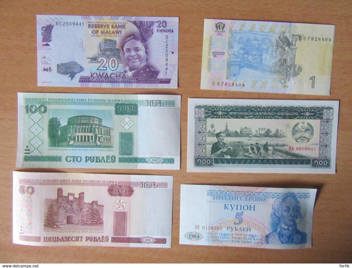 Petite Collection De Billets De Banque Du Monde Proche Neuf, Neufs / UNC, Dont Indonésie, Cambodge, Etc... - Billets