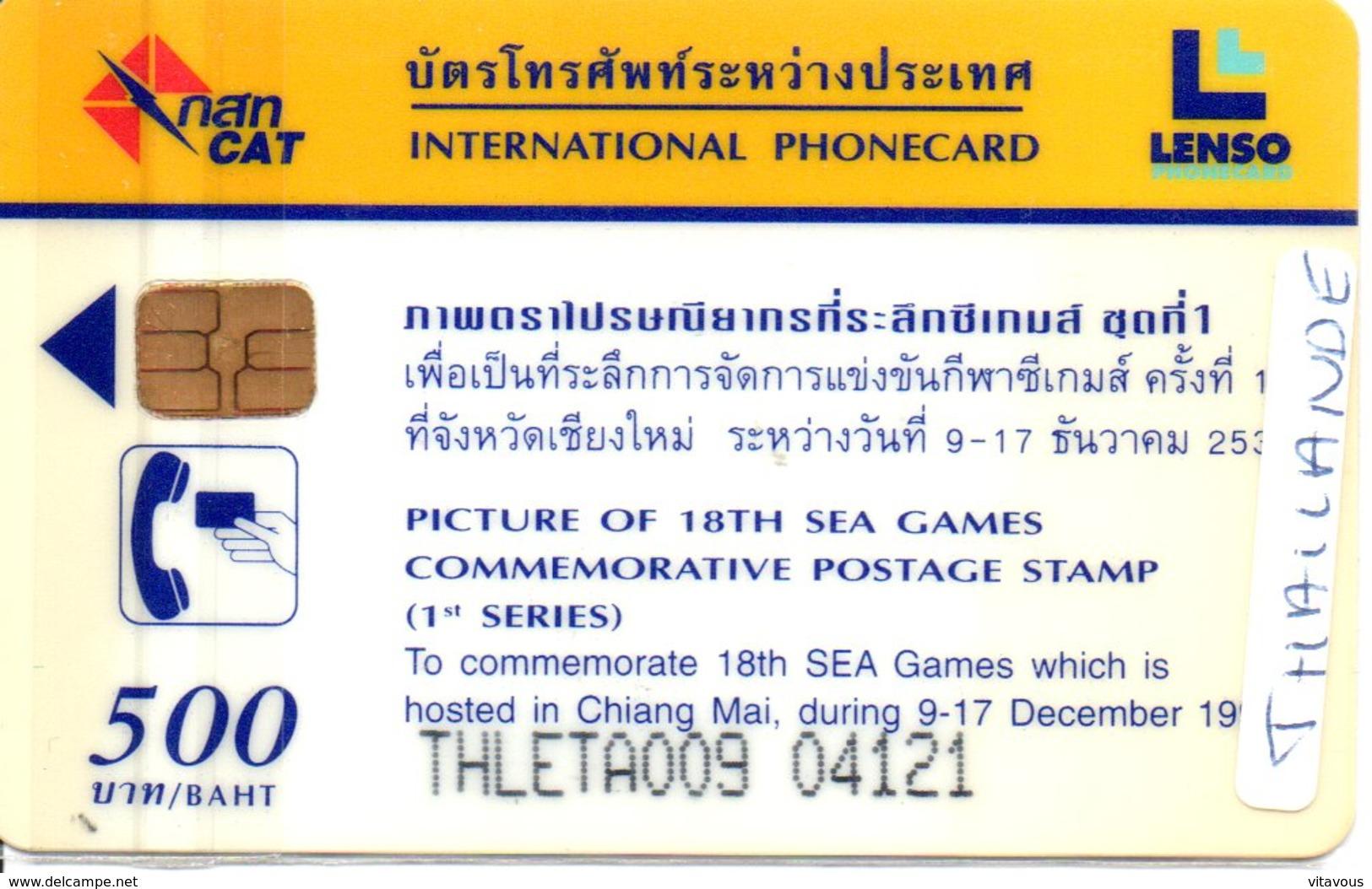 Télécarte Puce Thaïlande Timbre Stamp - Sport  Games GHIANG MAI Athlétisme 1995 Phonecard  (G15) - Thaïlande