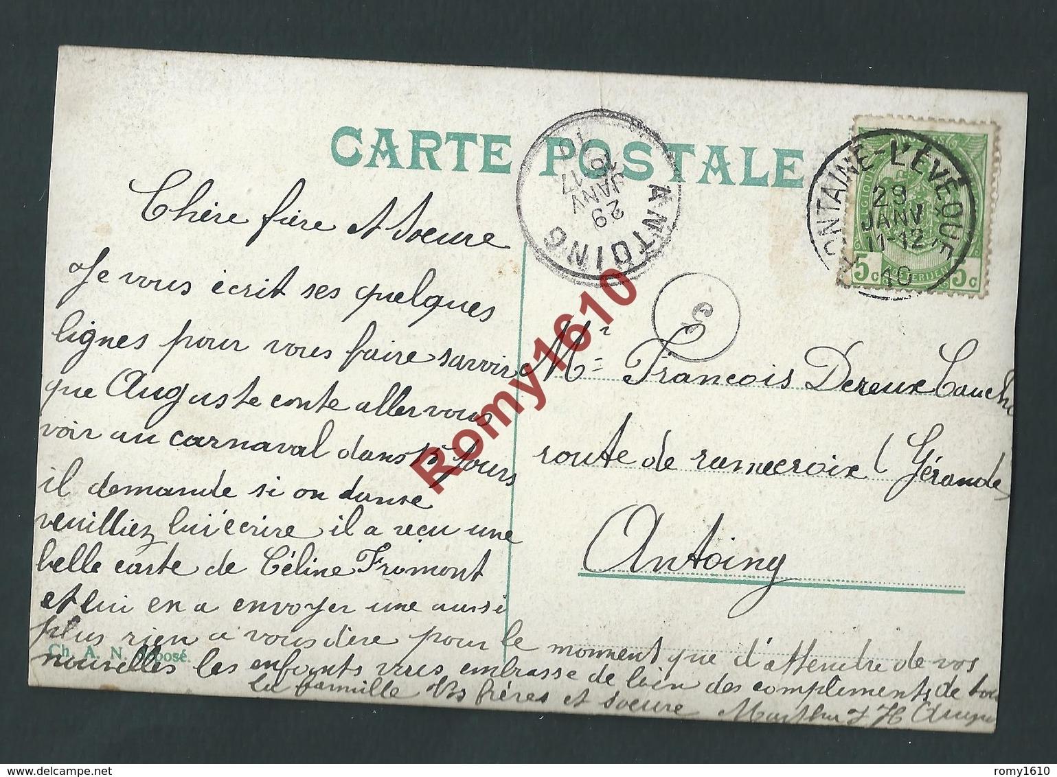 Bon Souvenir De Fontaine - L'Evêque. Avec Prsonnages Dans Les Lettres. Voir Dos, 2 Scans - Fontaine-l'Evêque