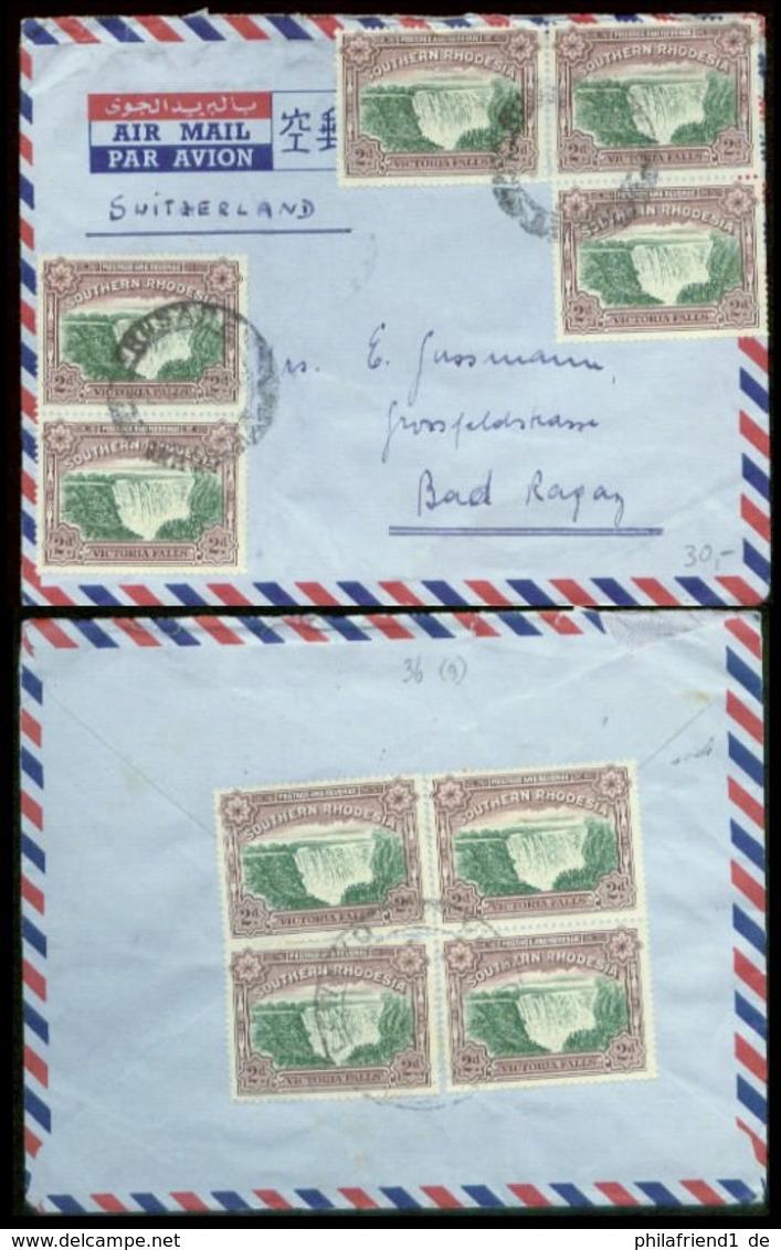 07524 Süd Rhodesien LUPO Brief 9 X Victoria Falls 2d - Sonstige - Afrika