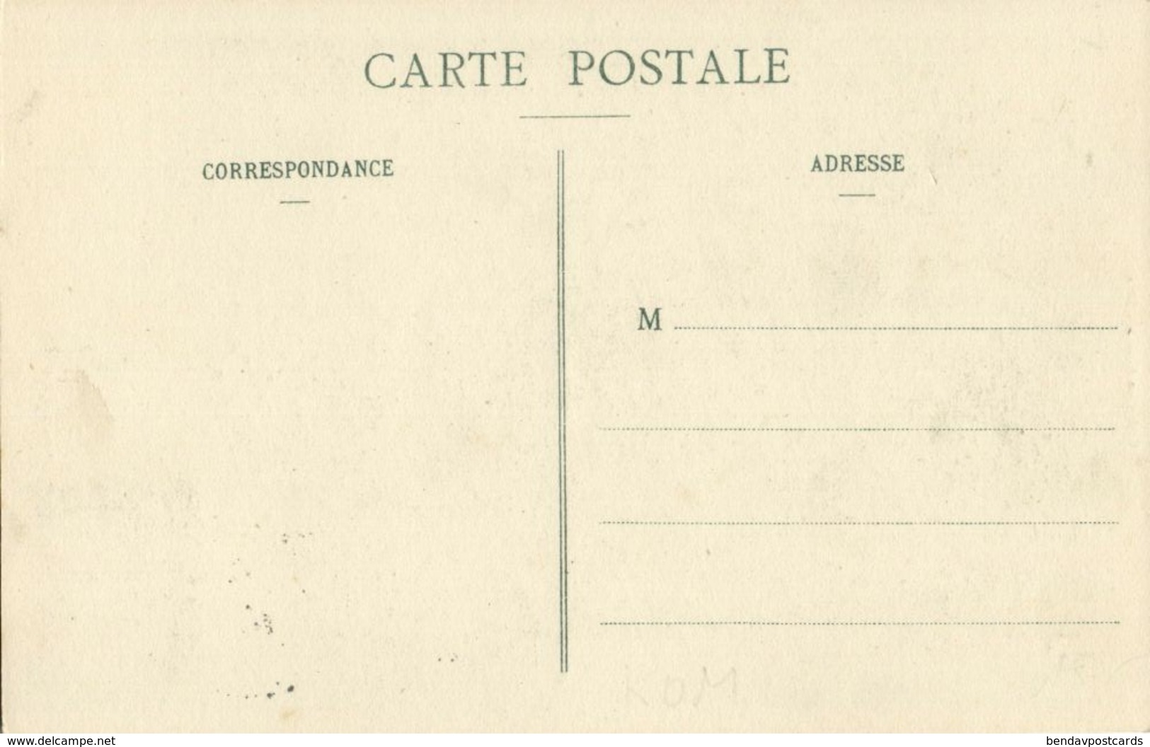 Comoros Comores, Sultanate Of Ndzuwani ANJOUAN, Sous-Bois (1910) Postcard - Comores