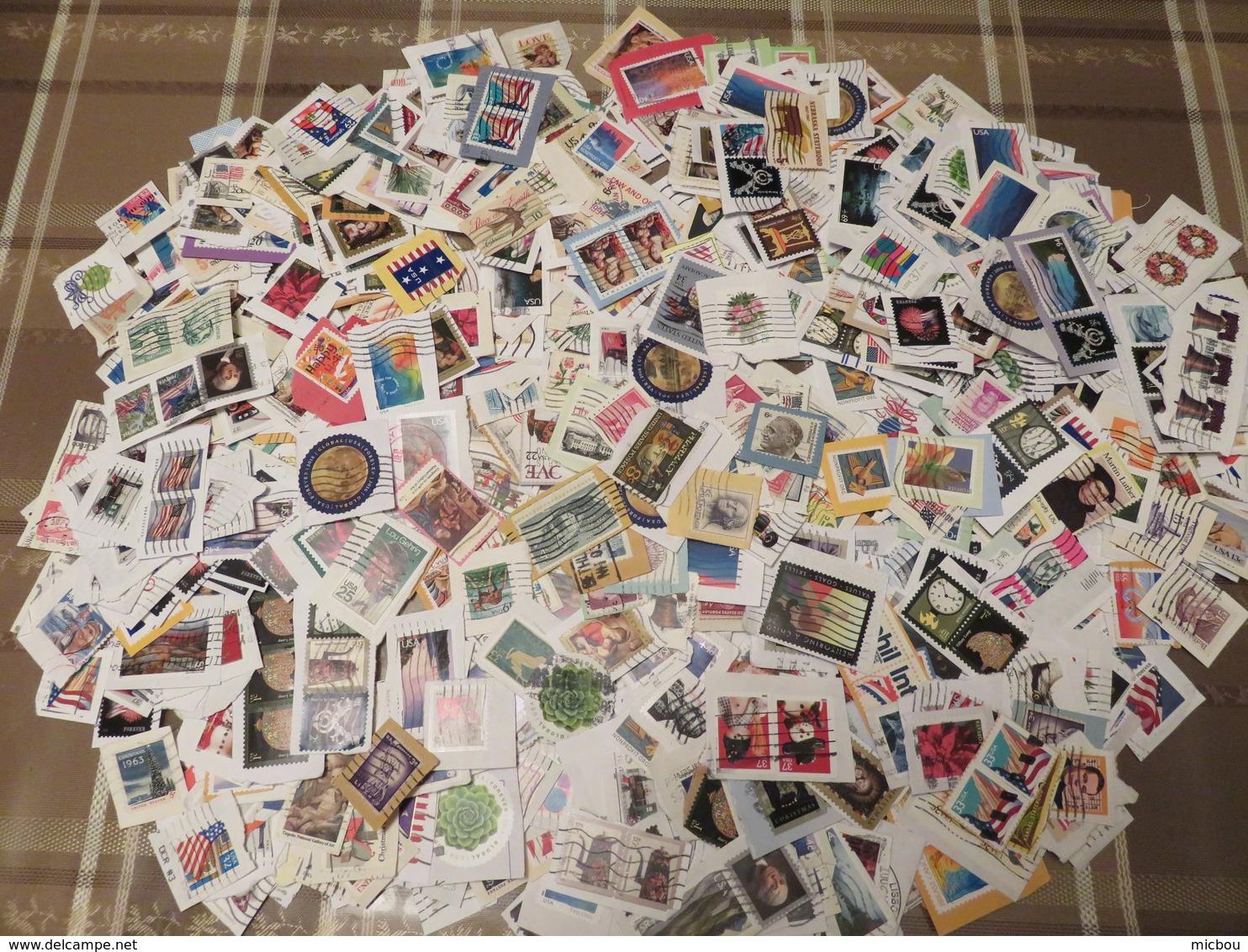 ##USA3, USA, Vrac, AUBAINE, DEAL, 180g, Environ 1000 Timbres, Around 1000 Stamps, Diversifié, Diversified - Timbres