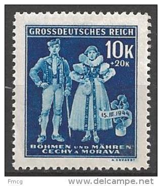 1944 10k+20k Costume, Semi-postal, Mint Never Hinged - Unused Stamps