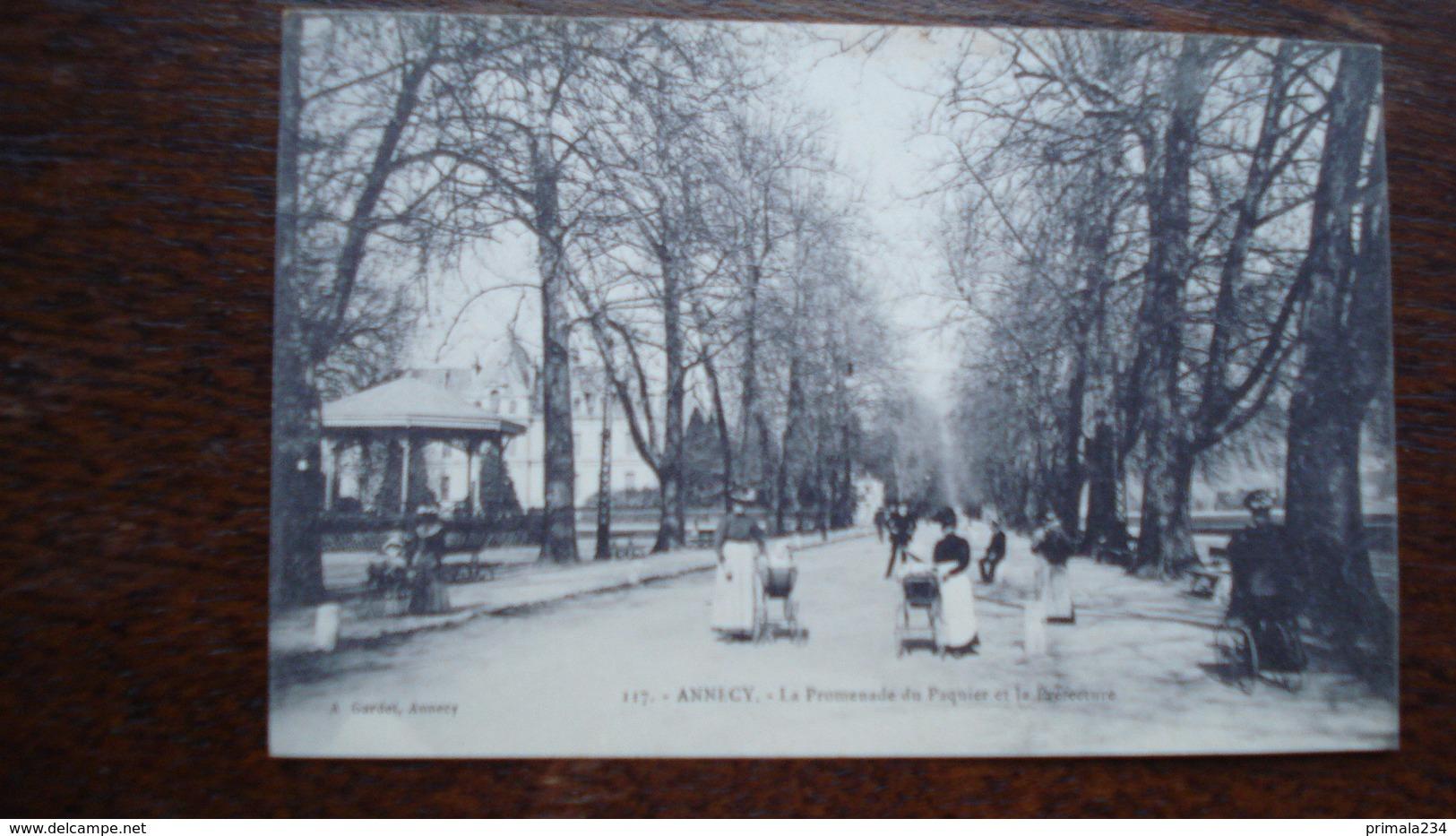 ANNECY -PROMENADE DU PAQUIER - Annecy