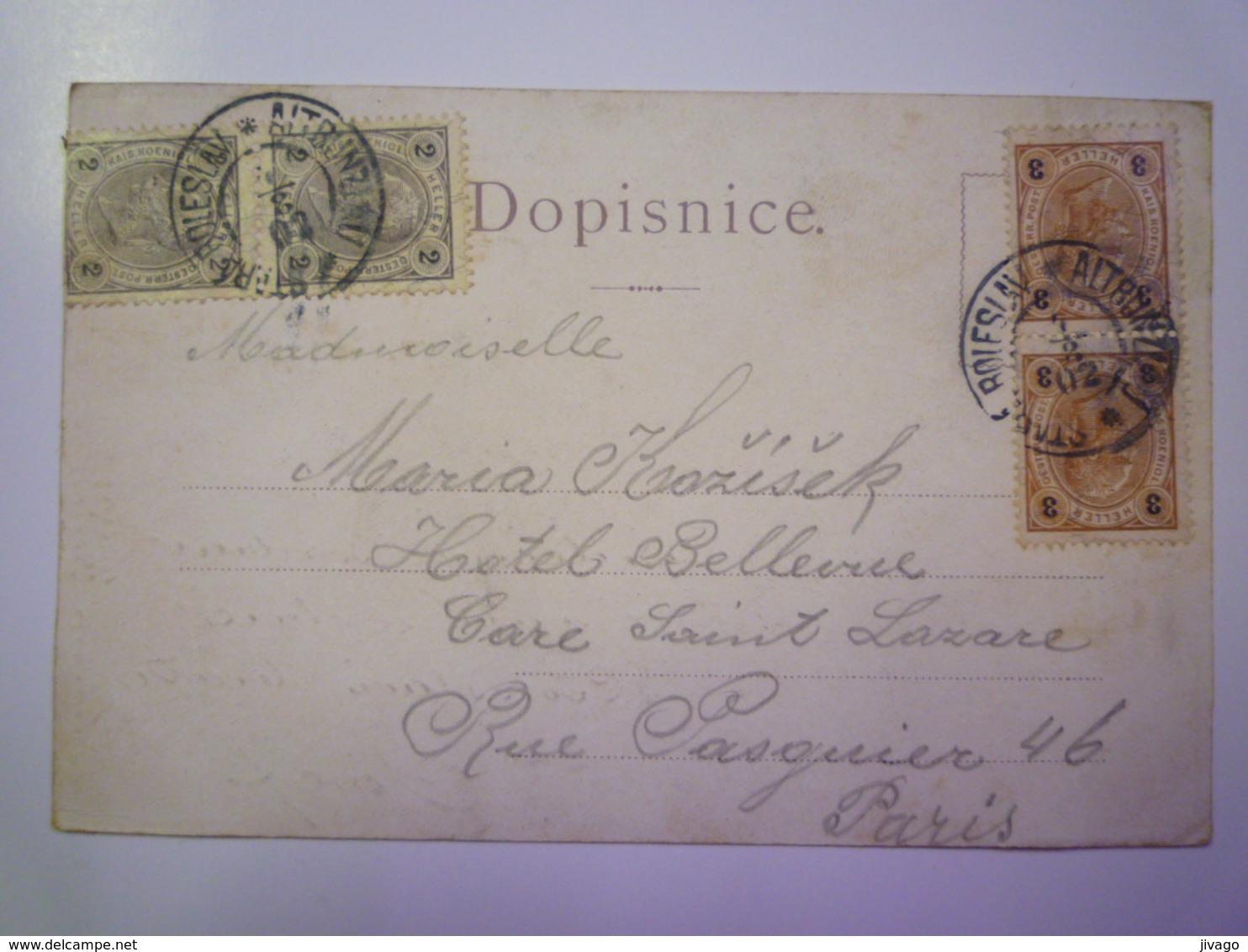 TCHEQUIE  :  POZDRAV Ze St. BOLESLAVI   1902  X - Czech Republic