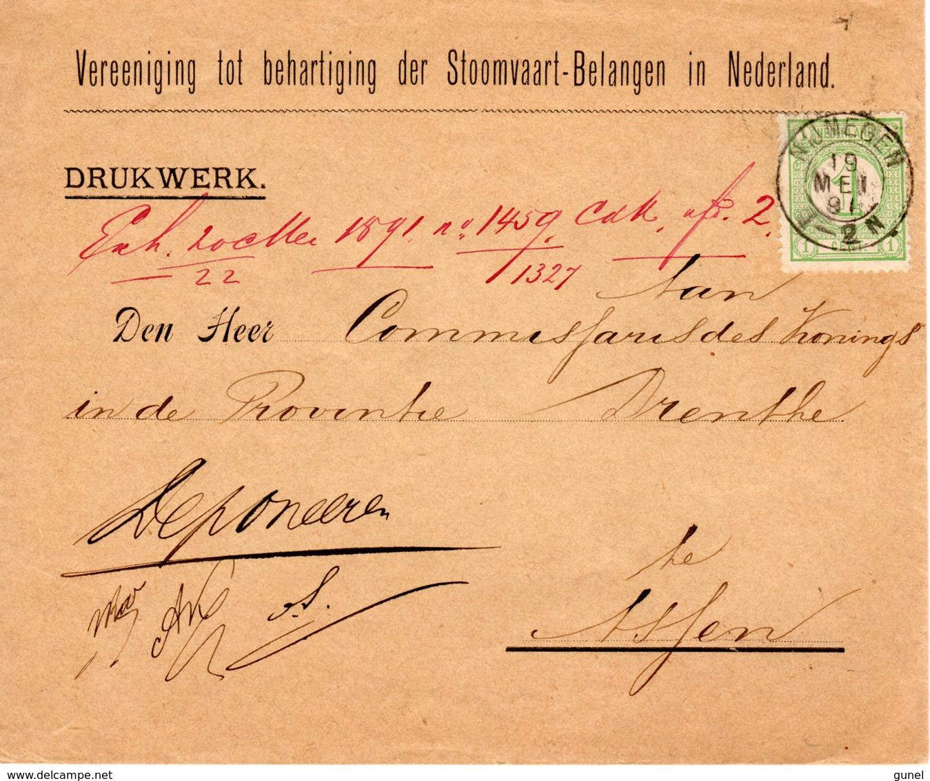 19 MEI 91 Drukwerk Envelop Met Firmalogo Van Nijmegen Naar Assen Met NVPH 31 - Brieven En Documenten