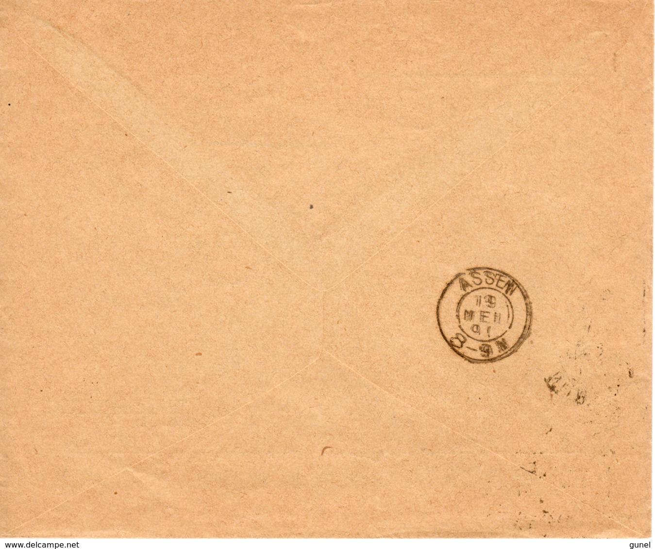 19 MEI 91 Drukwerk Envelop Met Firmalogo Van Nijmegen Naar Assen Met NVPH 31 - Periode 1891-1948 (Wilhelmina)