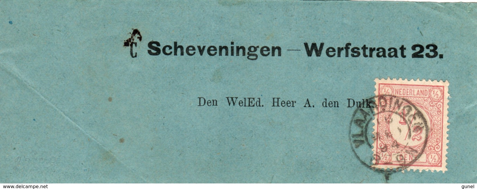 16 MEI 94 Krantebandje Met Voorgedrukt Adres Van Vlaardingen Naar Scheveningen Met NVPH 30 - Periode 1891-1948 (Wilhelmina)