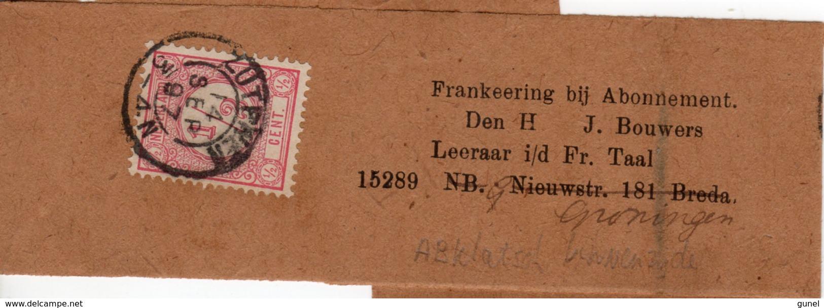 14 SEP 97 Krantebandje M. Voorgedrukt Adres FRANKEERING Bij Abonnement Van Zutphen Naar Breda En Door N. Groningen M. 30 - Periode 1891-1948 (Wilhelmina)