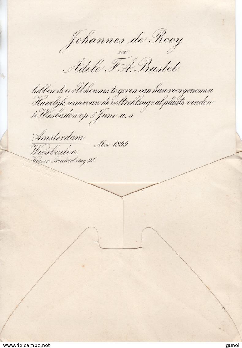 12 MEI 99  Drukwerkvoor Huwelijksaankondiging Naar Eutin (Oldenburg)  M. NVPH 33 - Periode 1891-1948 (Wilhelmina)