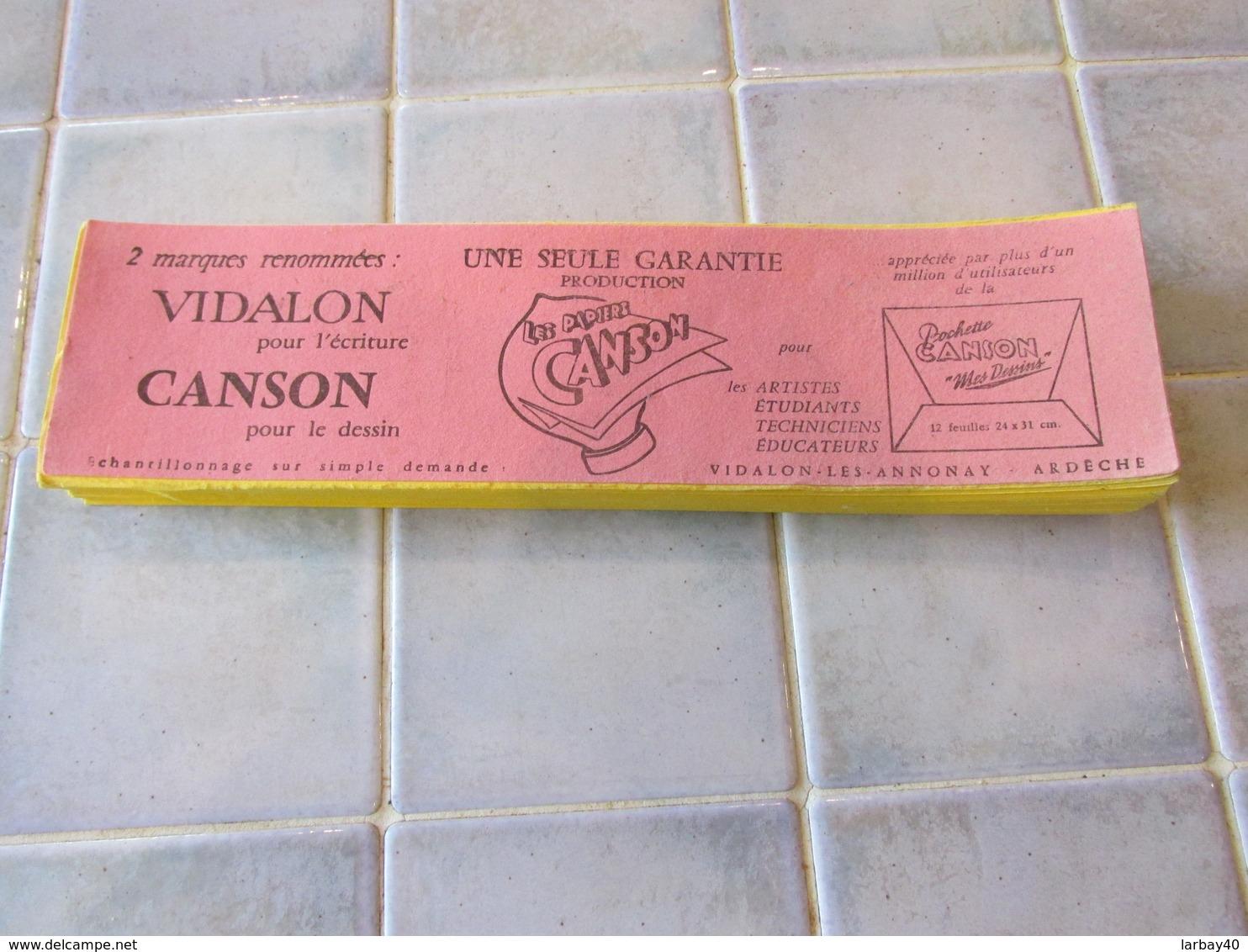 Buvards Vidalon Canson 28 X 7,5 Cm - Buvards, Protège-cahiers Illustrés