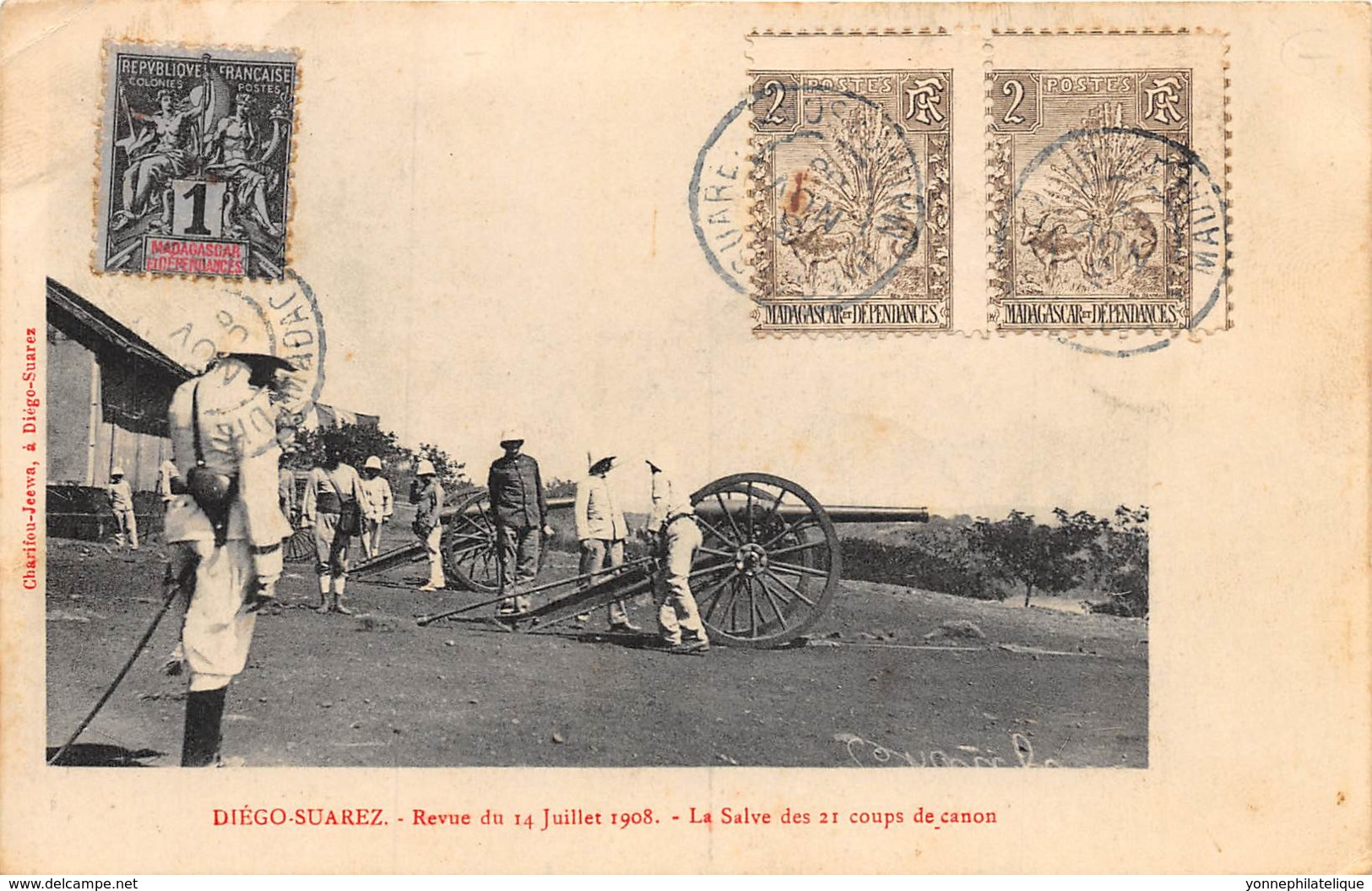 Madagascar - Diego Suarez / 07 - Revue Du 14 Juillet 1908 - Belle Oblitération - Madagascar