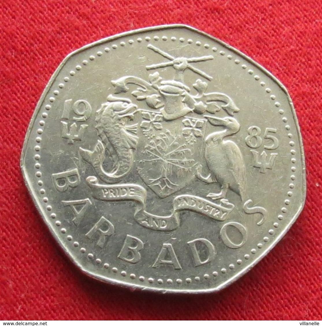 Barbados 1 Dollar 1985 KM# 14.1 Barbade Barbades - Barbades