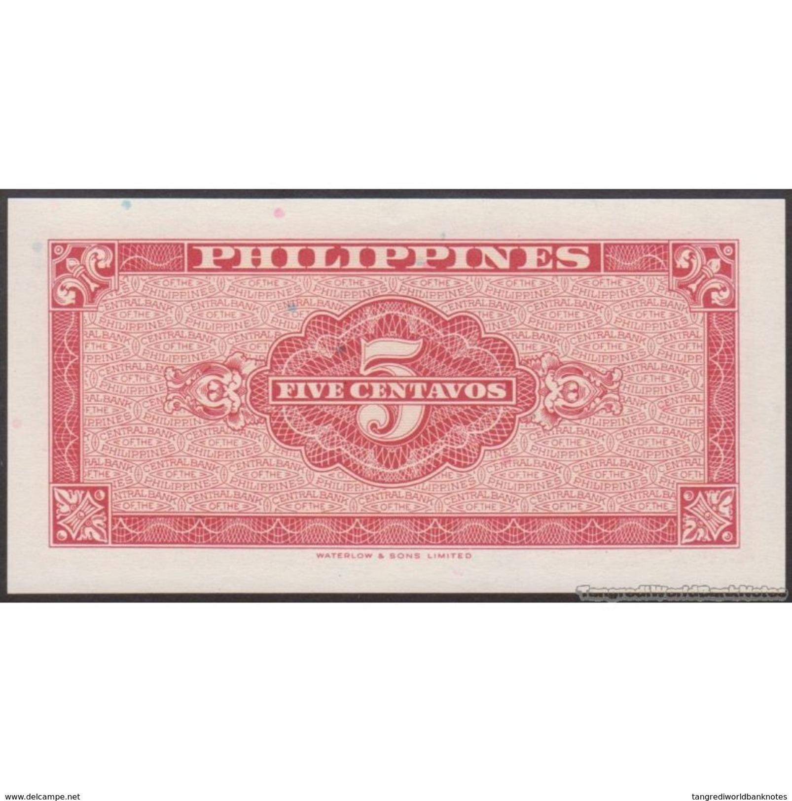 TWN - PHILIPPINES 126a - 5 Centavos 1949 Prefix TU UNC - Philippines