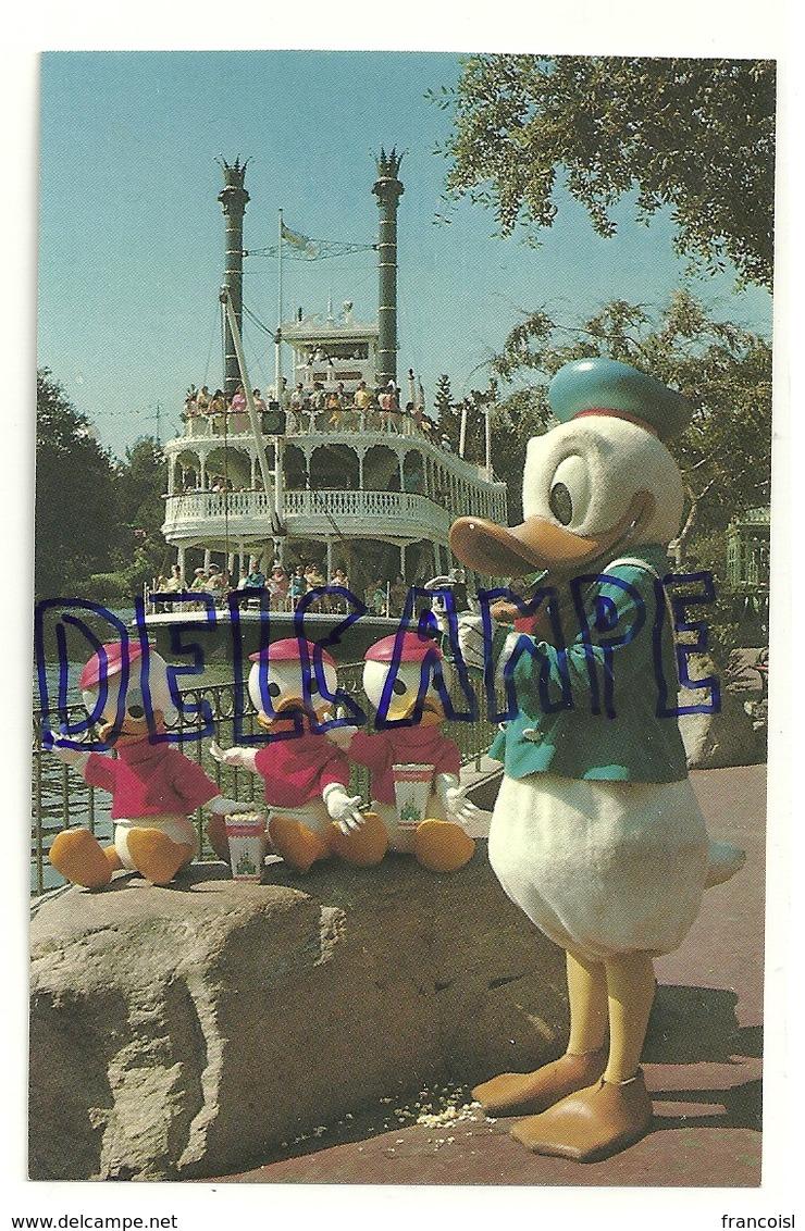 "Disneyland. Donald And His Nephews (neveux)., Appareil Photographique, Pop Corn, ""Mark Twain"" - Disneyland"