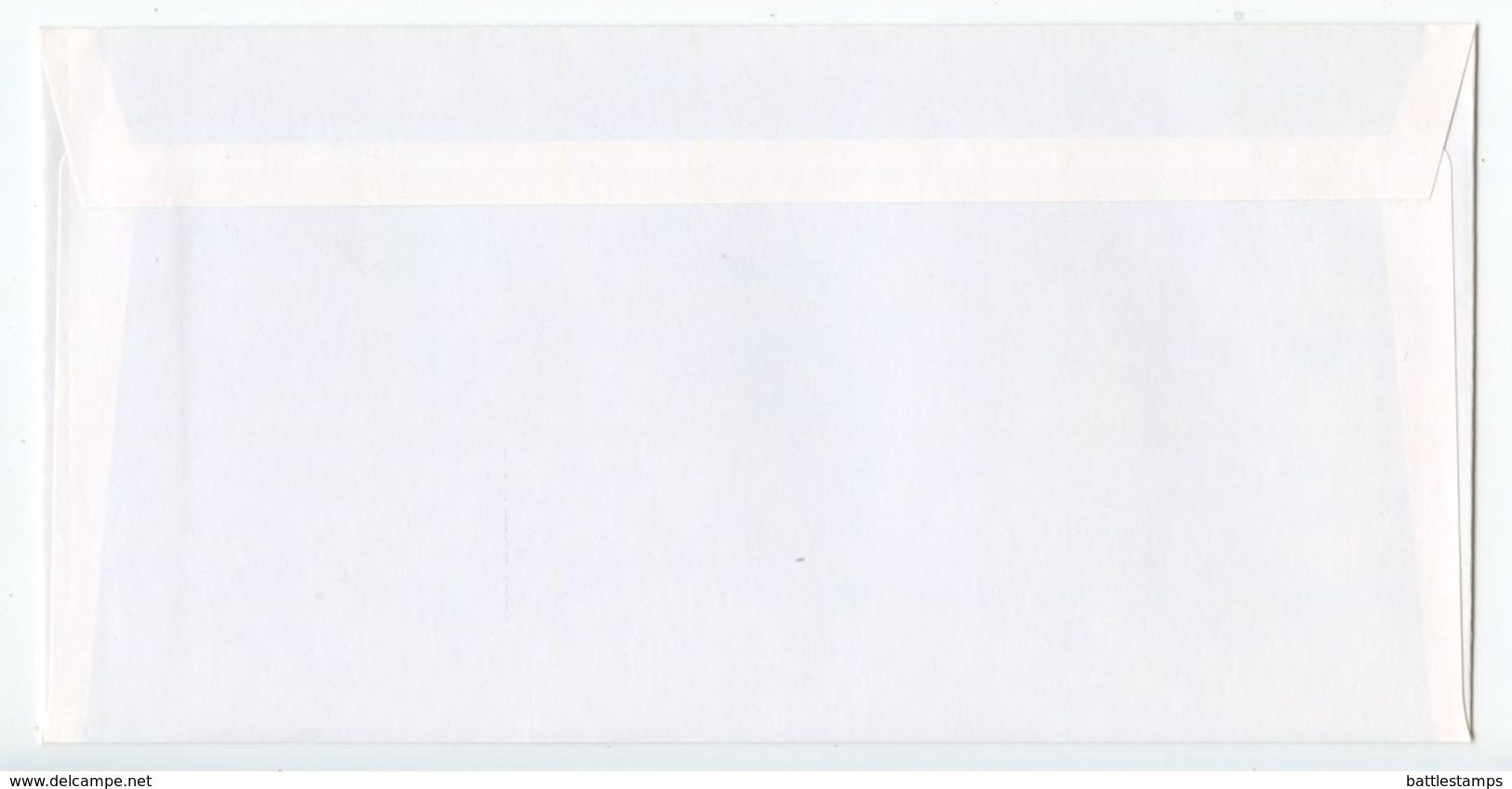 Belgium 1999 Mint Postal Envelope European Union Symbol & Brussels - Stamped Stationery