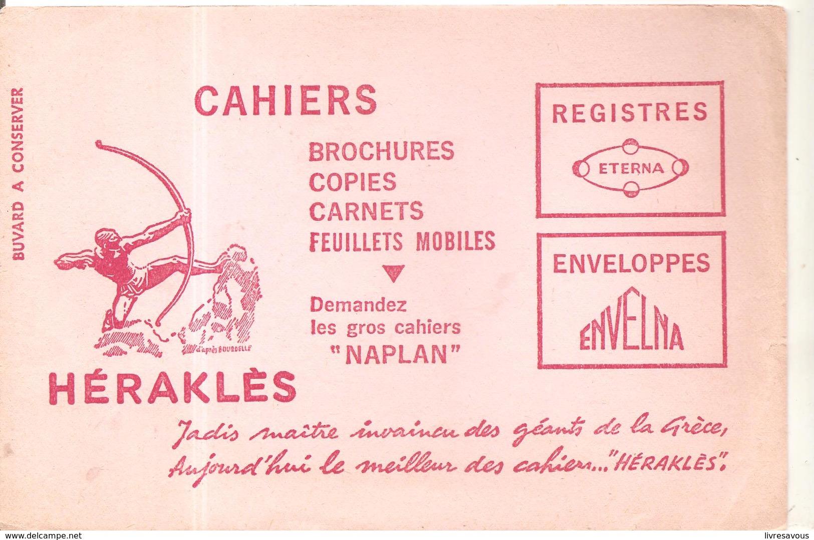 Buvard Héraklés Cahiers, Brochures, Copies, Carnets, Feuillets Mobiles, - Stationeries (flat Articles)