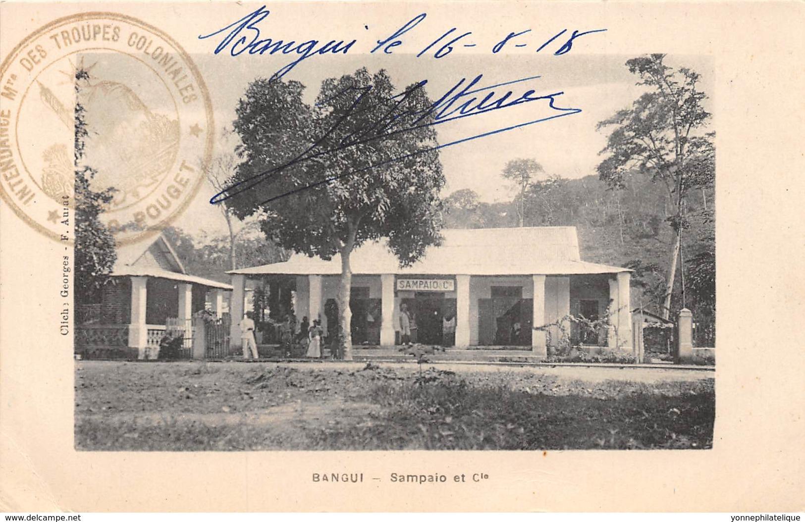 Oubangui Chari - Topo / 07 - Bangui - Sampaio Et Cie - Belle Oblitération - Centraal-Afrikaanse Republiek