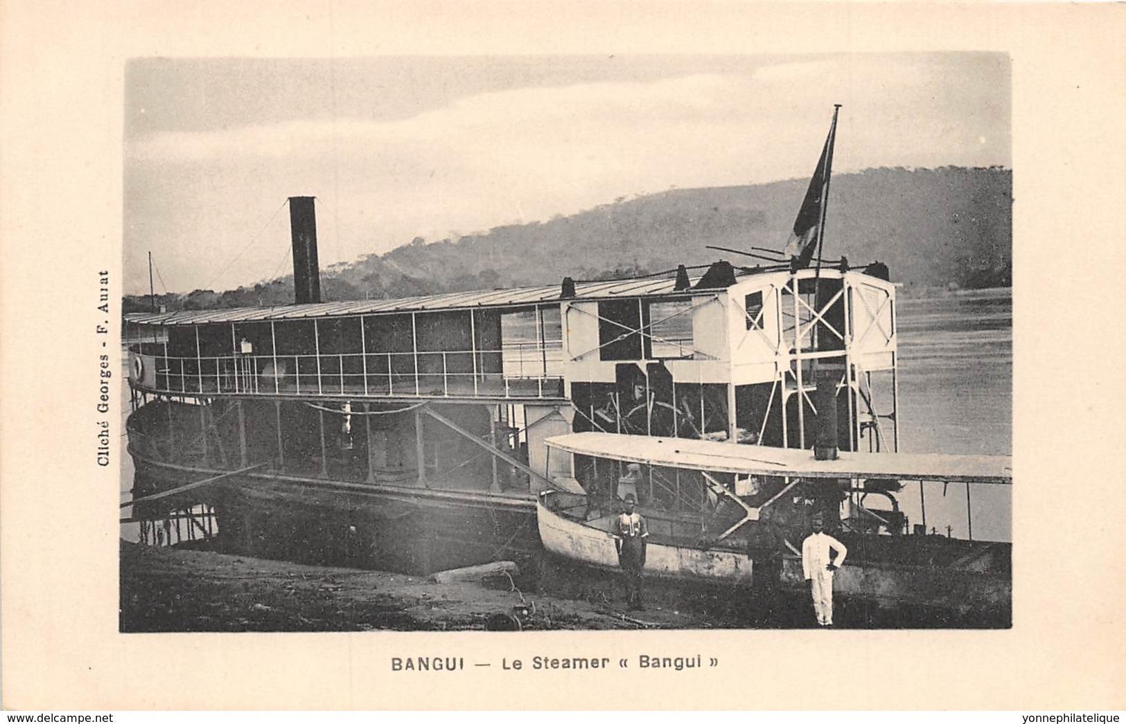 Oubangui Chari - Topo / 08 - Bangui - Le Steamer - - Centraal-Afrikaanse Republiek