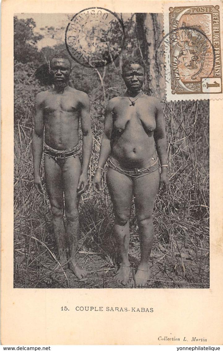 Oubangui Chari - Scenes Et Types V / 22 - Couple Saras Kabas - Belle Oblitération - Centrafricaine (République)