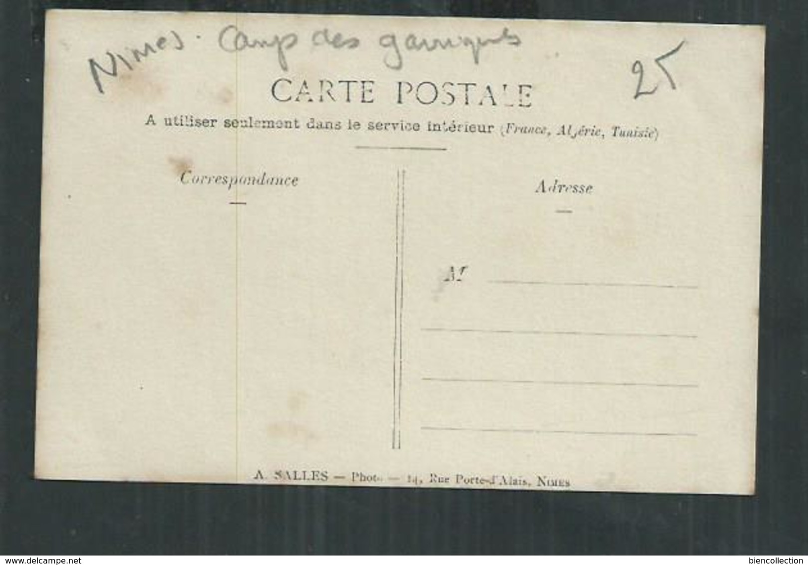 Gard. Nîmes ,carte Photo De La Cantine Du Champ De Tir Du Camp Des Garrigues - Nîmes