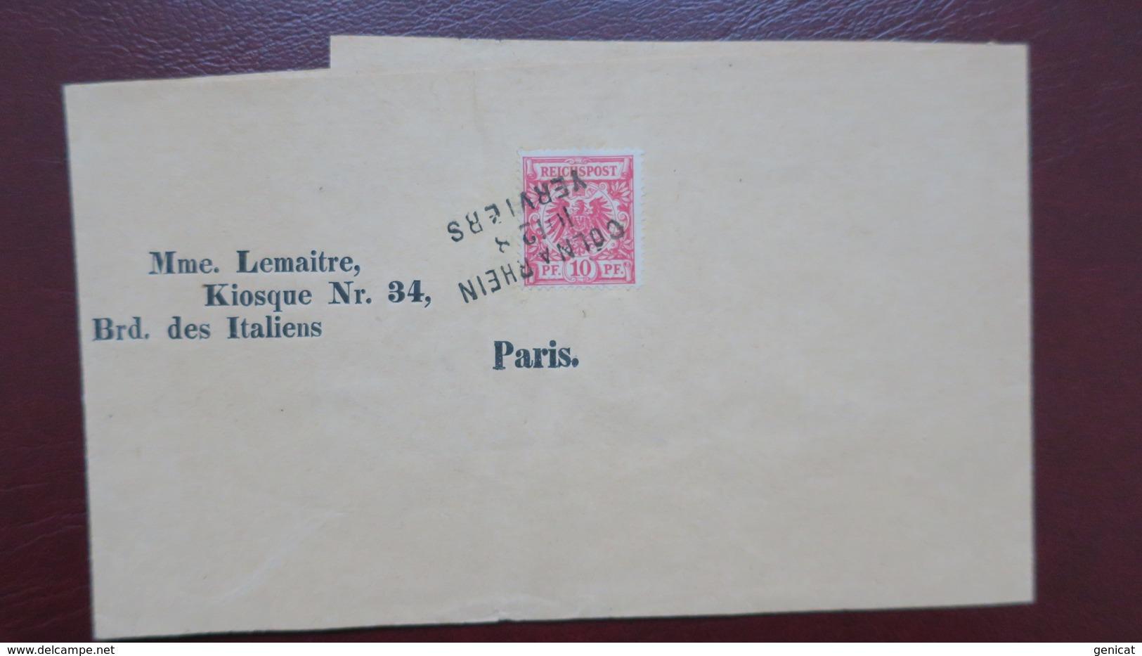 Bande Journal Pour Paris Oblitération Ambulant Bahnhof Coln A Rhein Verviers - Alemania